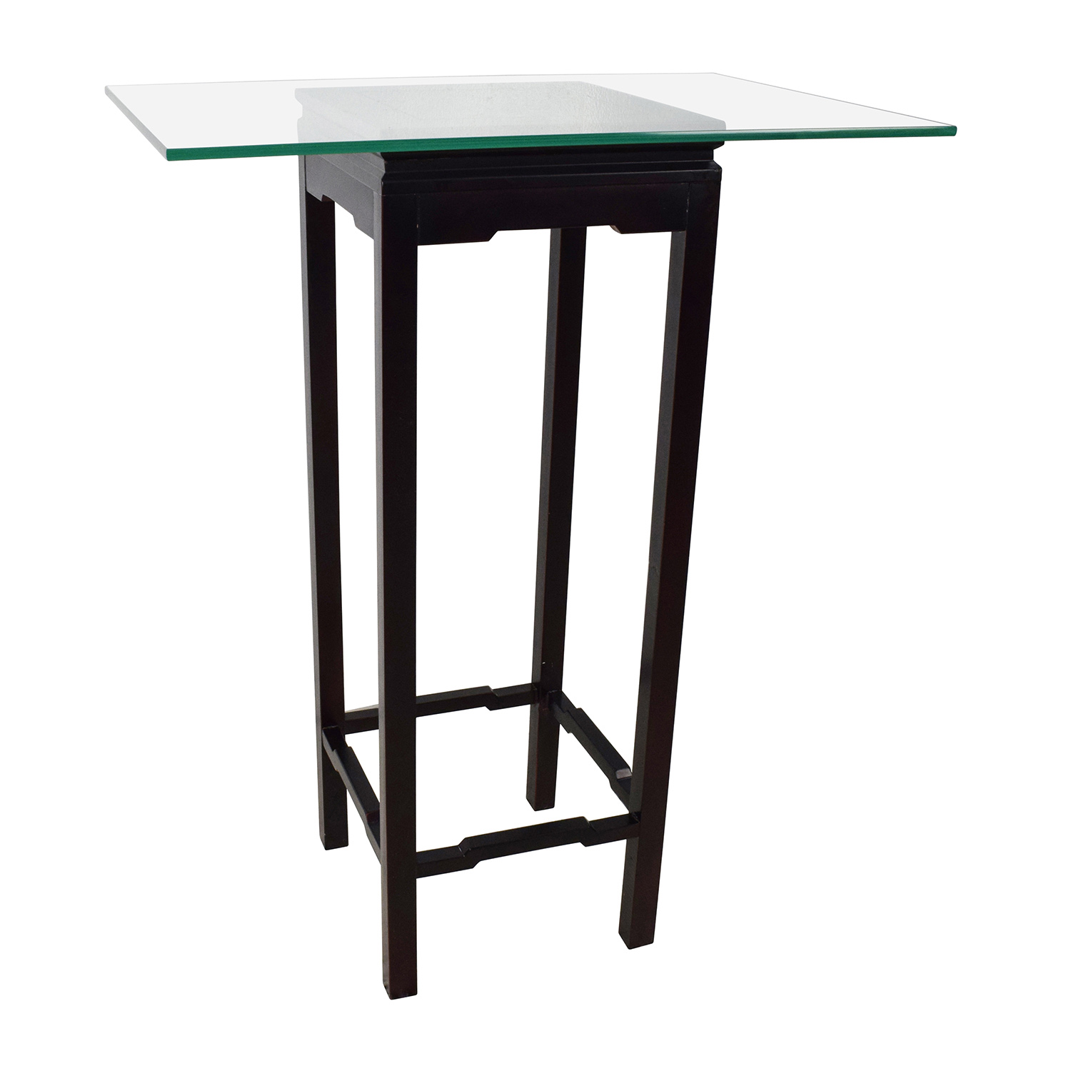 Crate & Barrel Crate & Barrel Glass and Black Frame Stand price