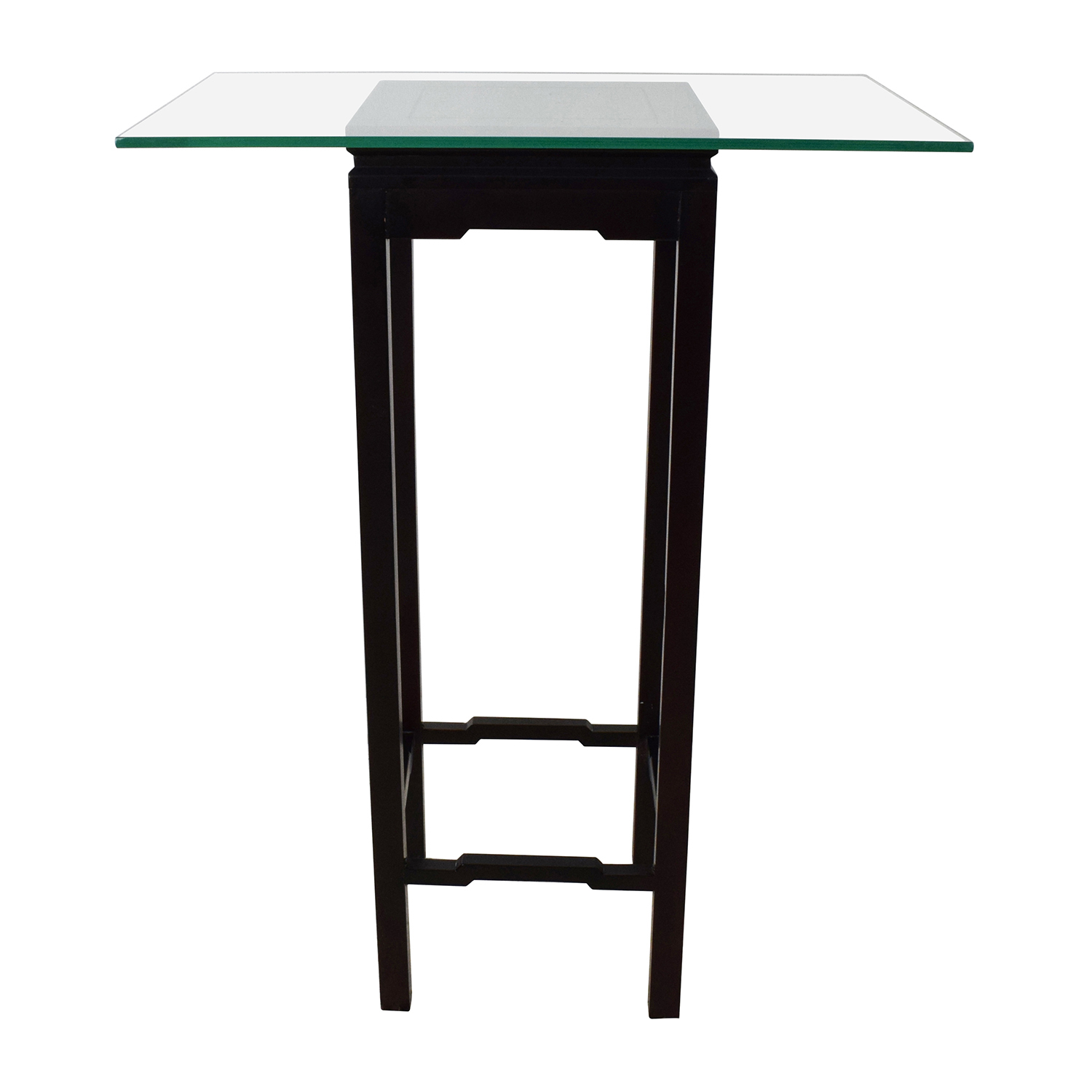 crate barrel glass and black frame stand end tables - Crate And Barrel End Tables