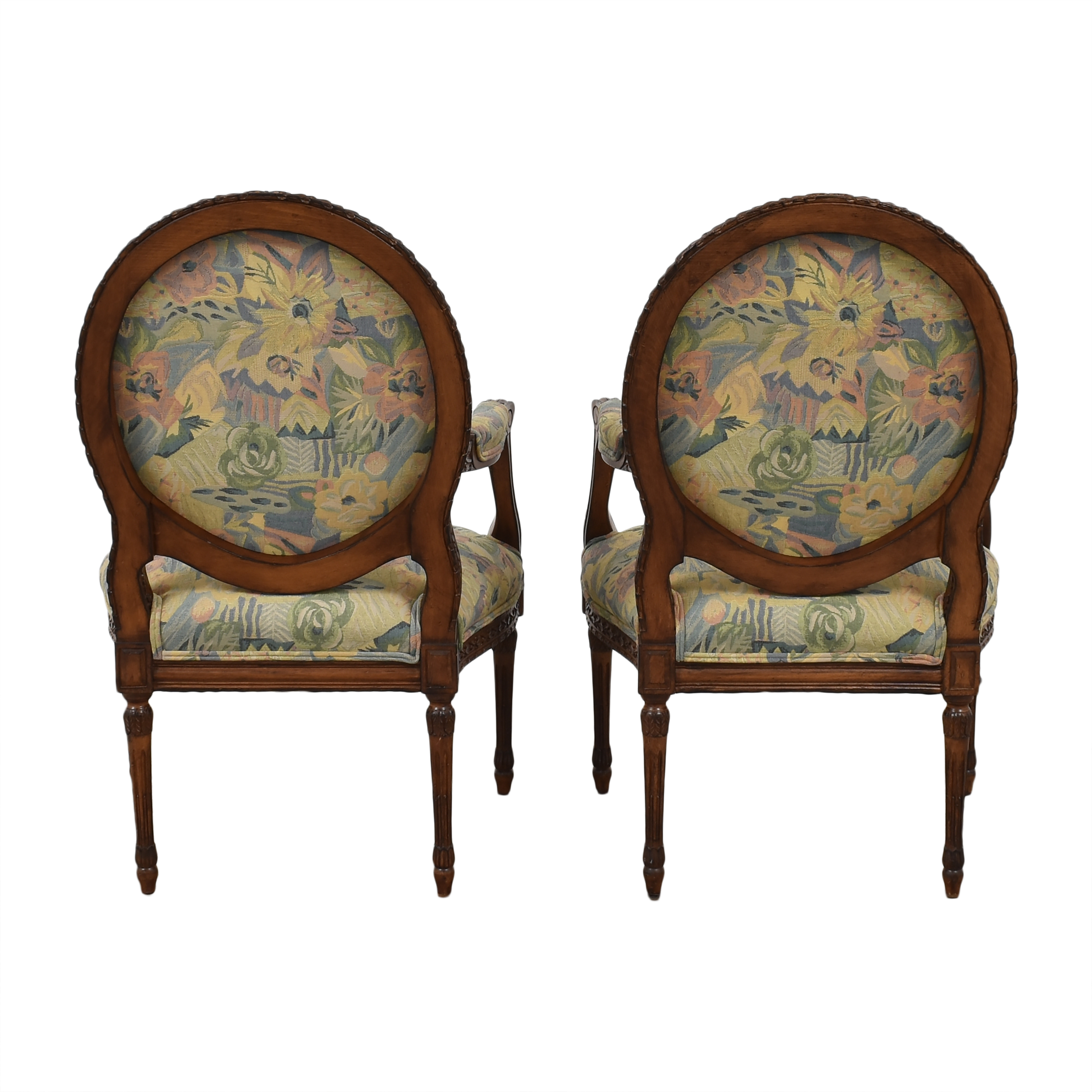 Meyer Gunther Martini Meyer Gunther Martini Carved Arm Chairs second hand