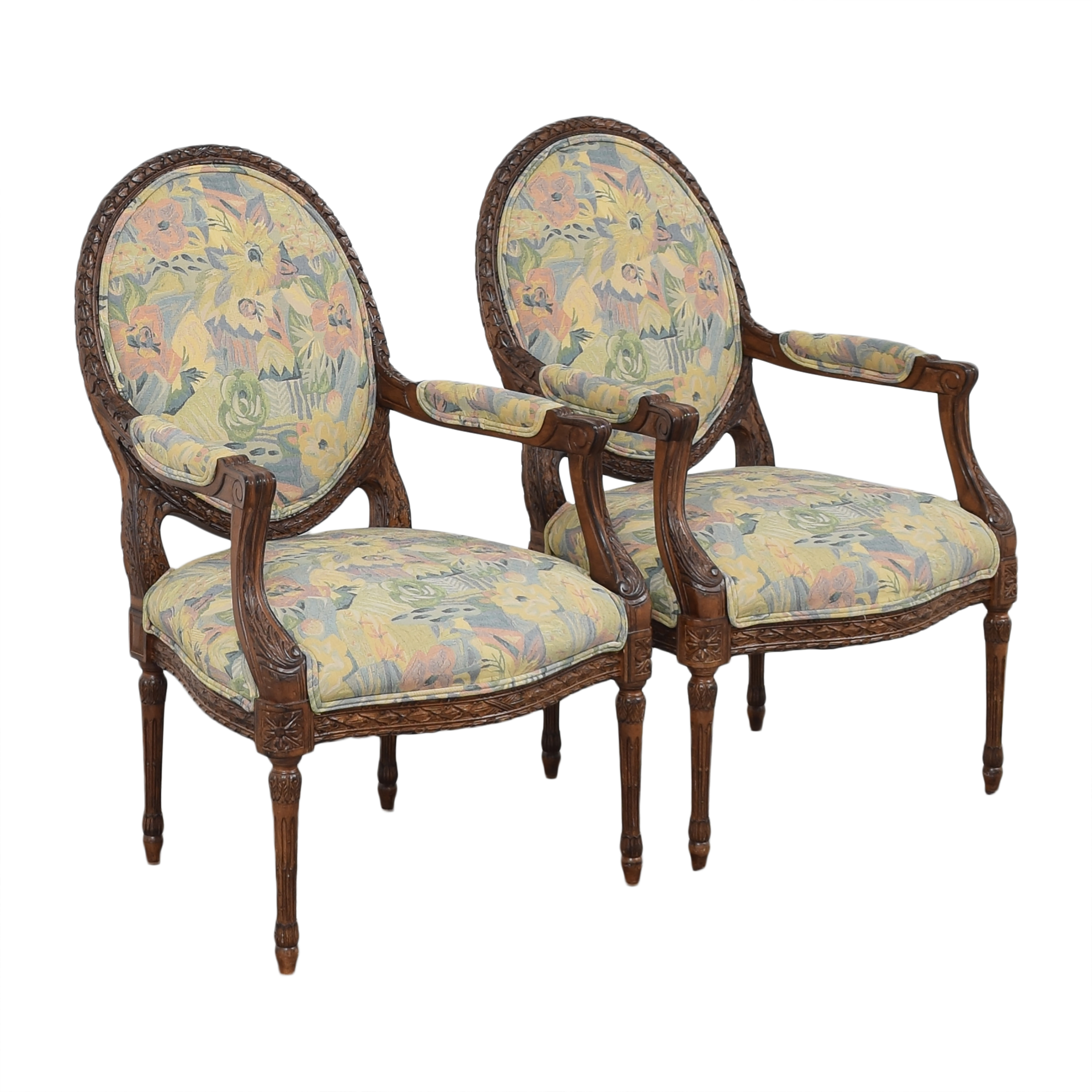 Meyer Gunther Martini Meyer Gunther Martini Carved Arm Chairs pa