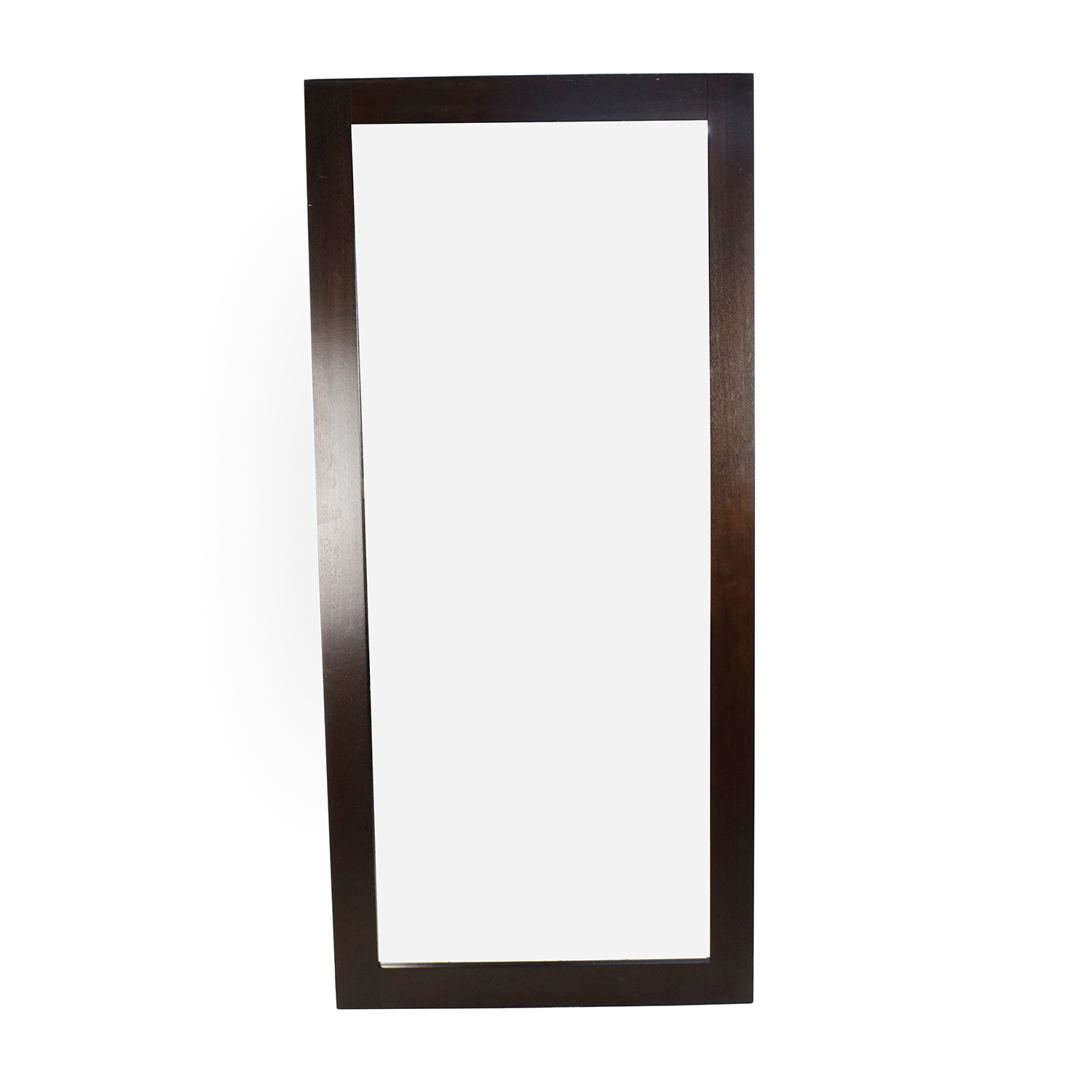 44 off wood framed tall standing mirror decor for Tall framed mirror