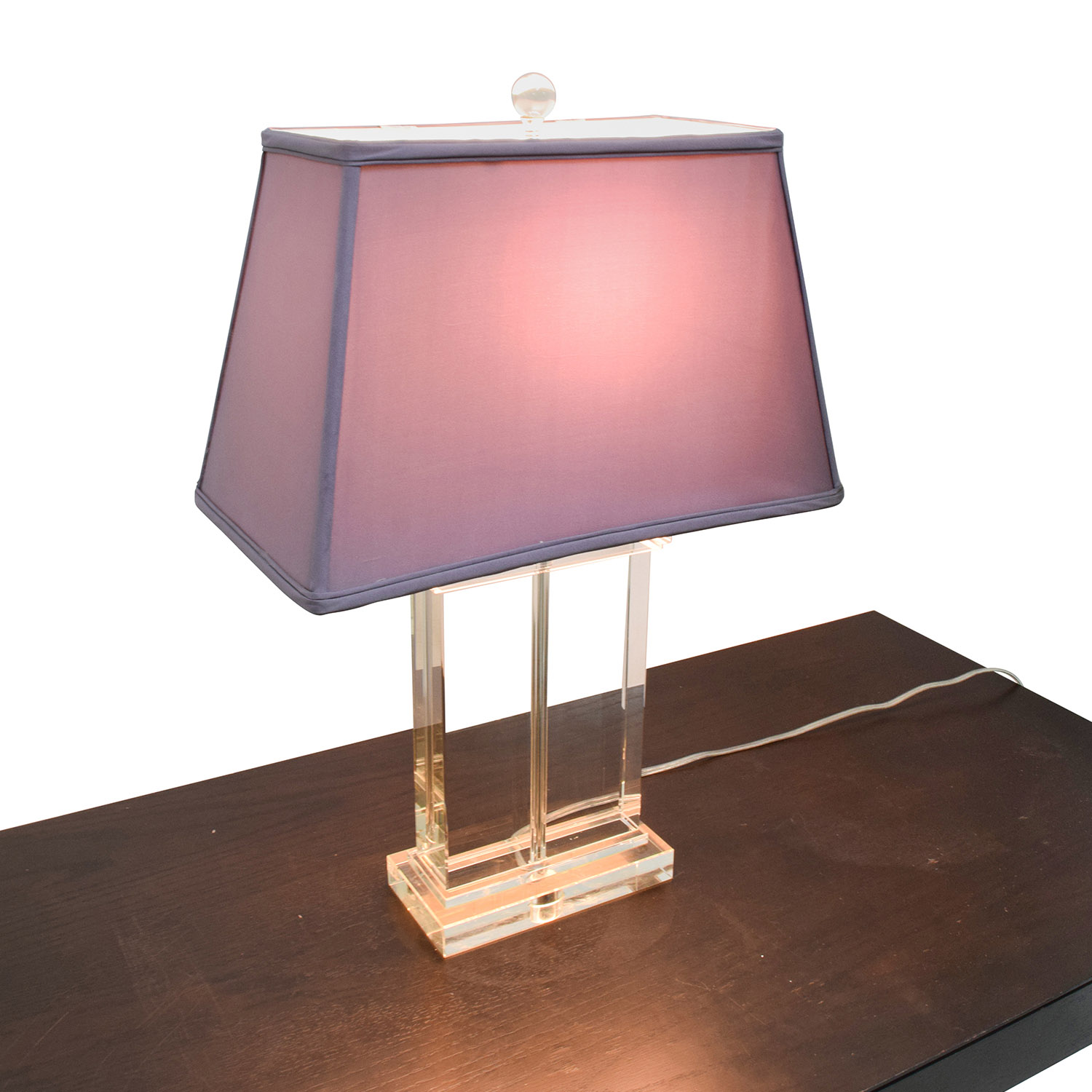 shop  Glass Base Lamp with Lavender Shade online