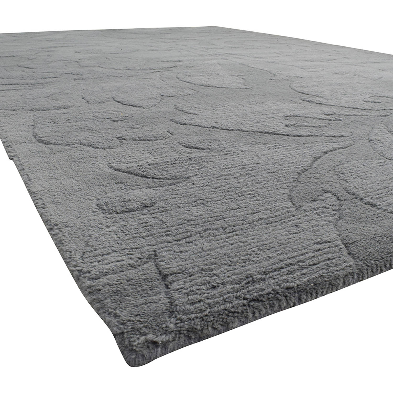 buy Nuloom Scroll Slate Grey Blue Rug Nuloom Rugs