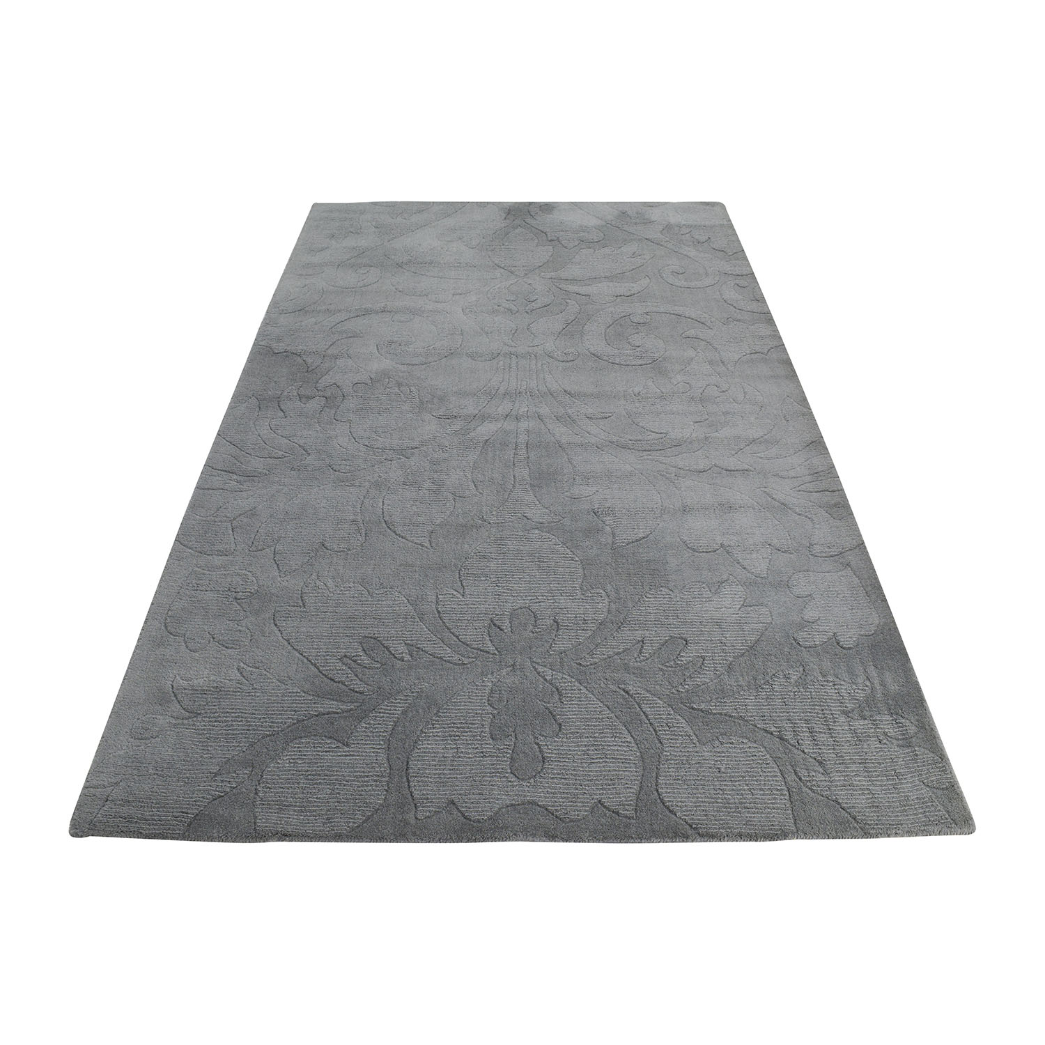 Nuloom Scroll Slate Grey Blue Rug / Decor