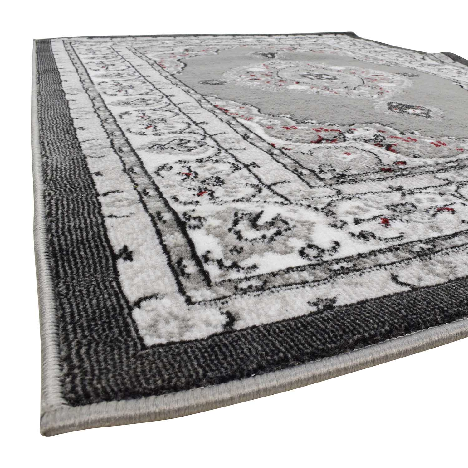 Dulcet Collection Dulcet Collection Grey and Black Print Rug used