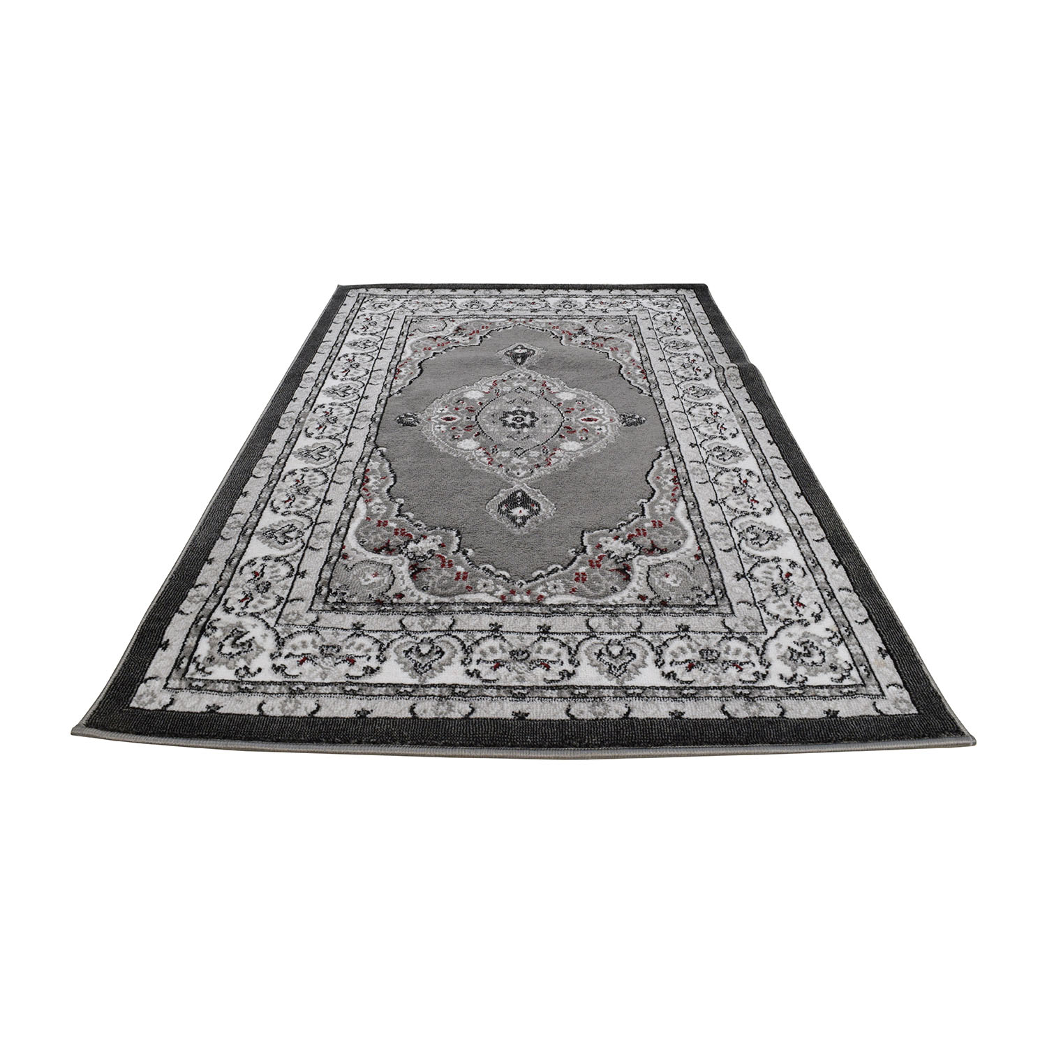 Dulcet Collection Dulcet Collection Grey and Black Print Rug black/ grey