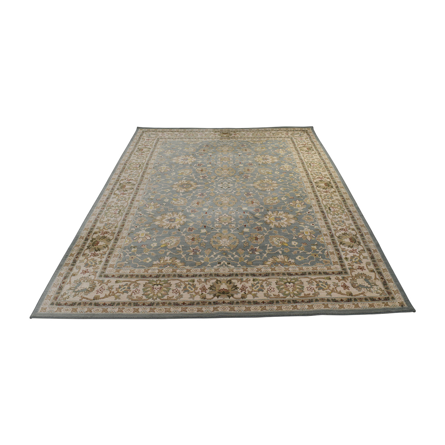 buy Green and Beige Rug Decor