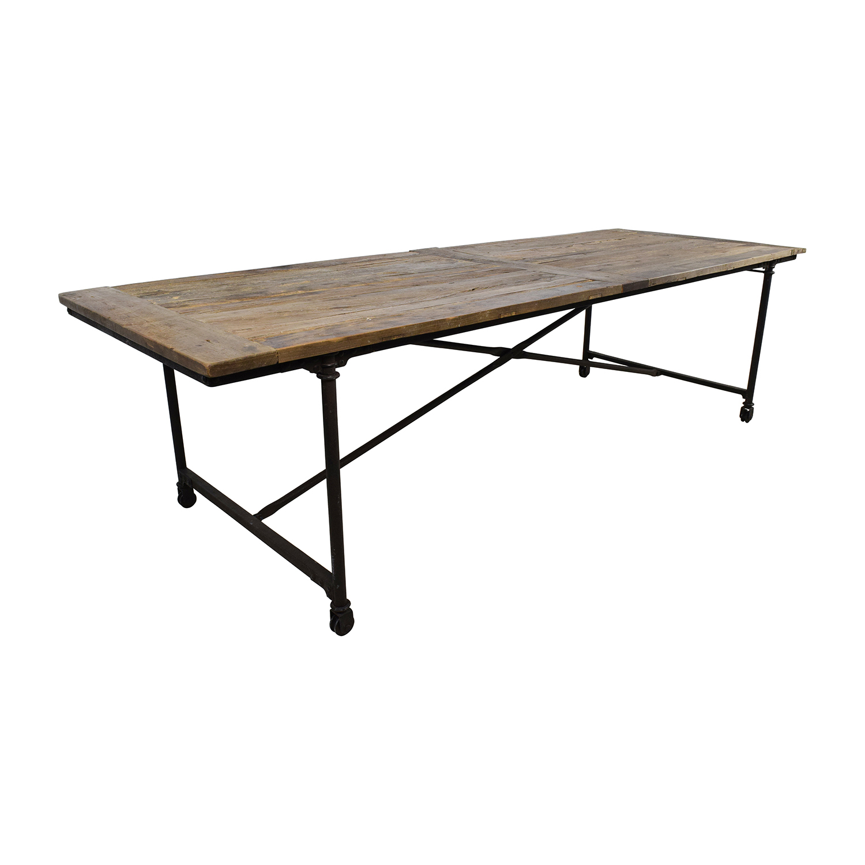 restoration hardware restoration hardware flat iron rectangular dining table nj