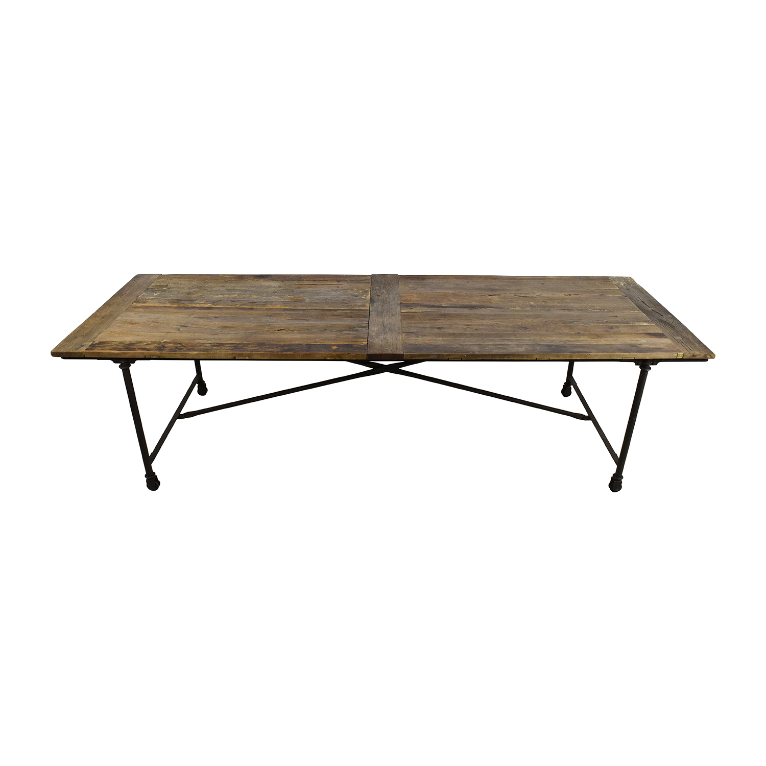 Restoration Hardware Flat Iron Rectangular Dining Table / Tables Part 25
