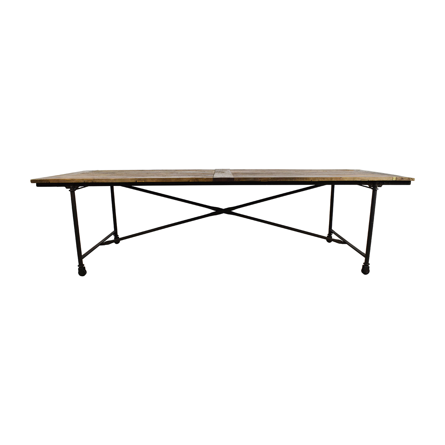 Restoration Hardware Flat Iron Rectangular Dining Table Nyc