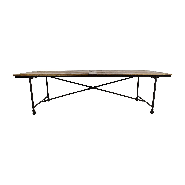 buy Restoration Hardware Restoration Hardware Flat Iron Rectangular Dining Table online