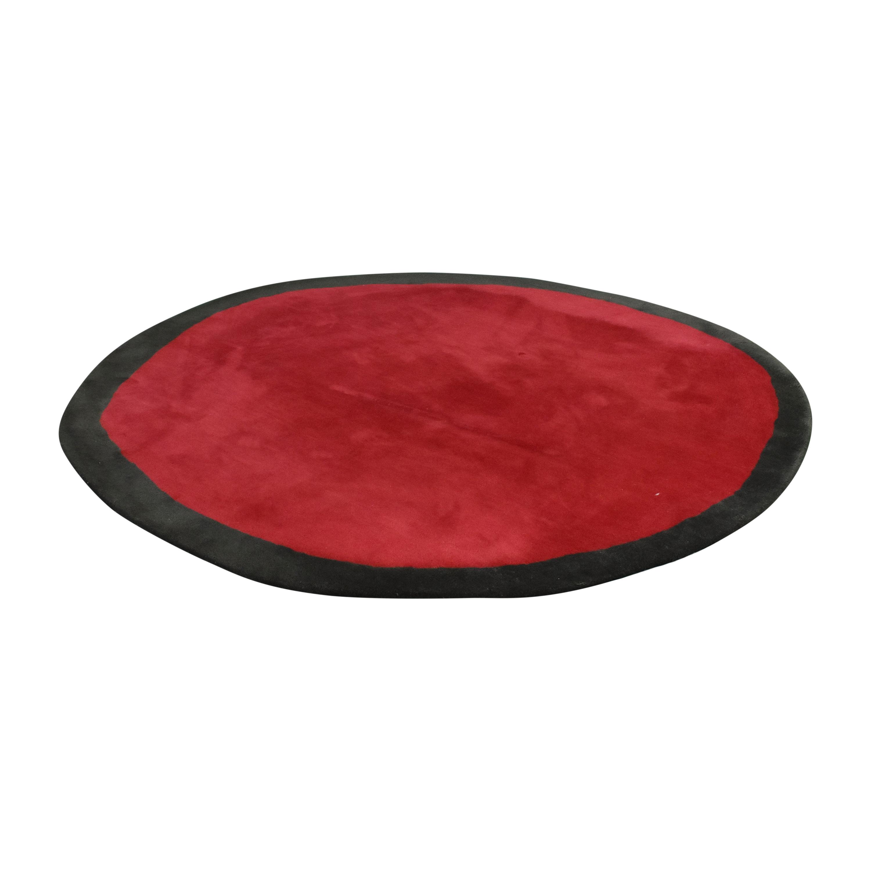 Nanimarquina Nanimarquina Aros Round Rug black & red
