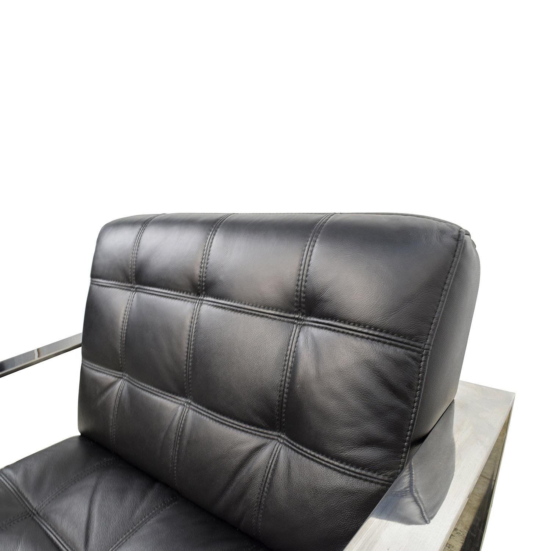 Brilliant 72 Off Modani Modani Savina Leather Lounge Chair Chairs Onthecornerstone Fun Painted Chair Ideas Images Onthecornerstoneorg