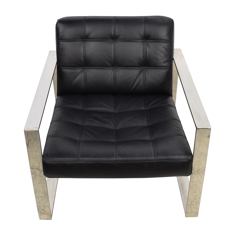 Awe Inspiring 72 Off Modani Modani Savina Leather Lounge Chair Chairs Onthecornerstone Fun Painted Chair Ideas Images Onthecornerstoneorg