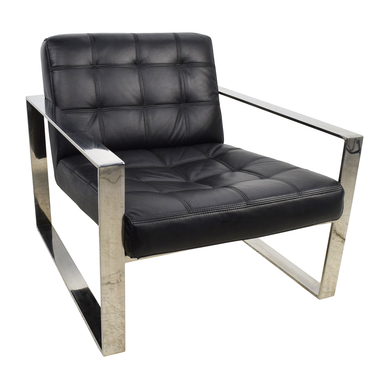 Terrific 72 Off Modani Modani Savina Leather Lounge Chair Chairs Onthecornerstone Fun Painted Chair Ideas Images Onthecornerstoneorg