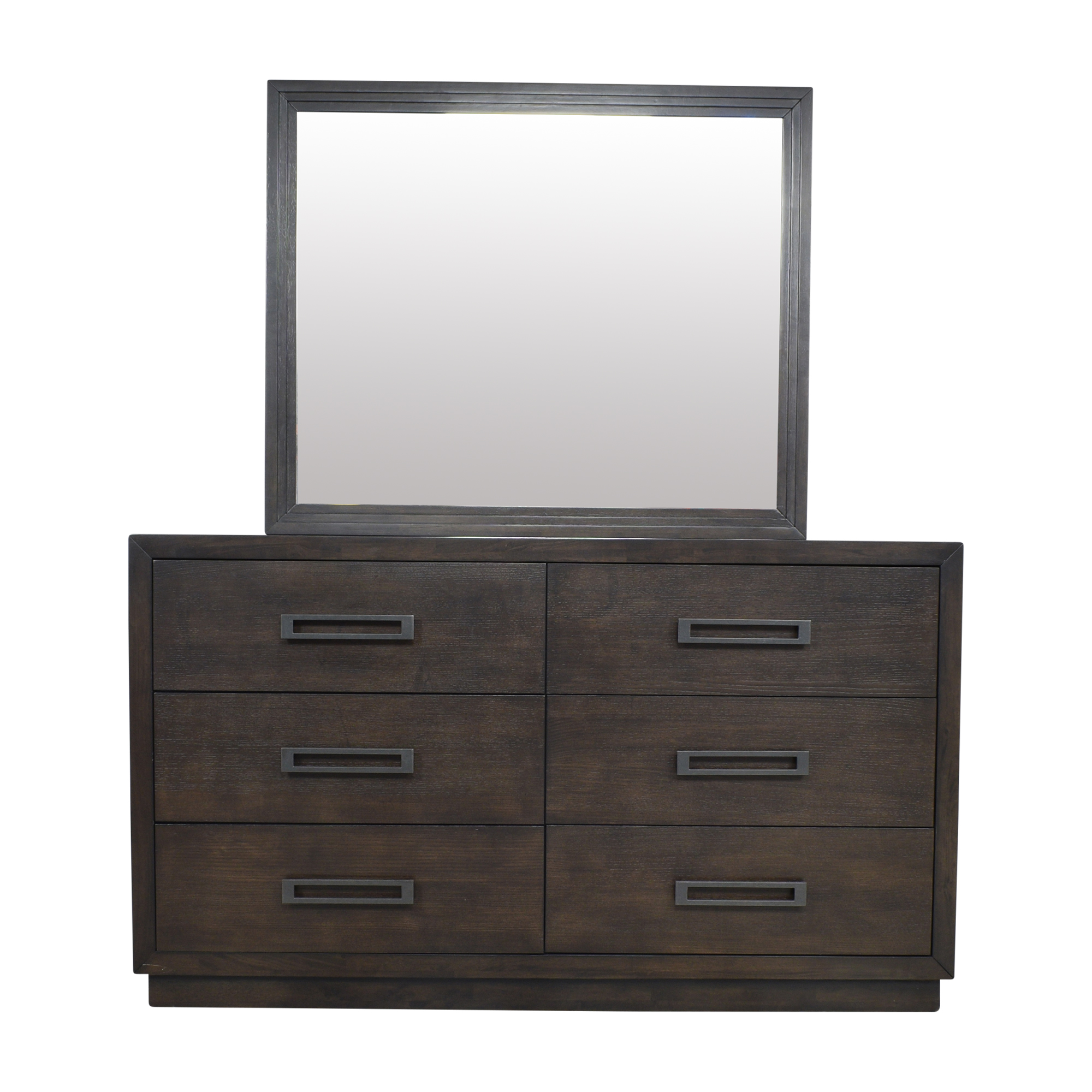 shop Raymour & Flanigan Double Dresser with Mirror Raymour & Flanigan Storage
