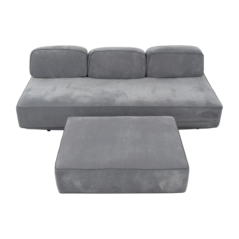shop Resource Furniture Flex Sofa and Ottoman Resource Furniture