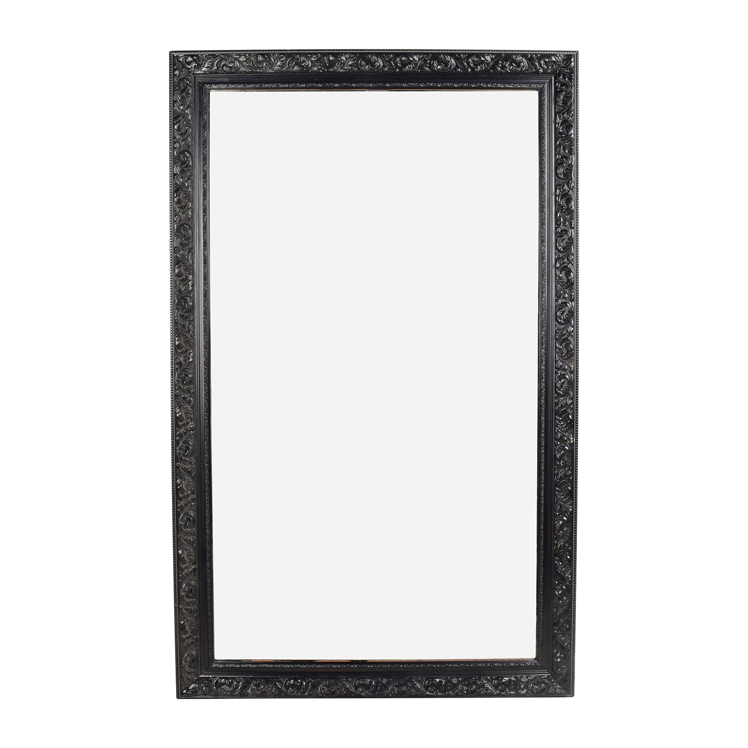 Antique Antique Ornate Frame Mirror black