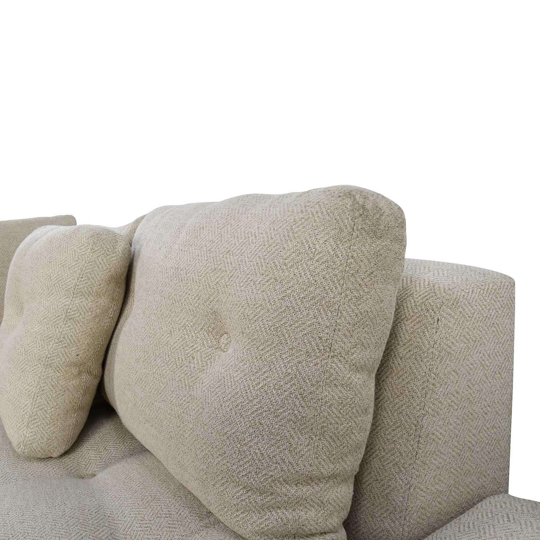79 Off Freestyle Freestyle Tufted Natural Fabric Sofa