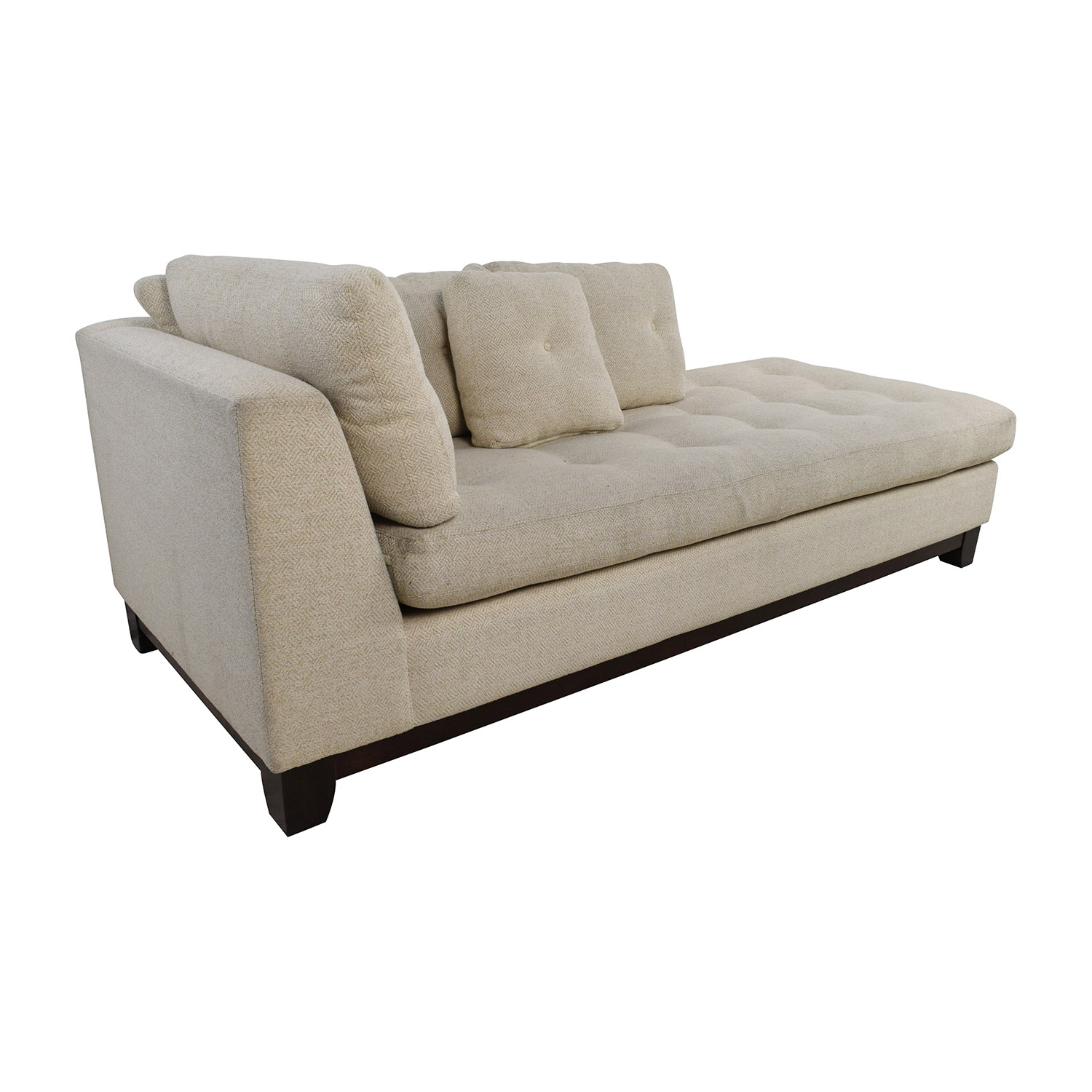 ... Freestyle Tufted Natural Fabric Sofa Chaise Sale ...