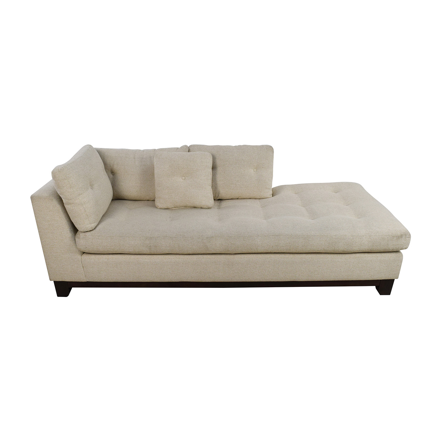 Freestyle Freestyle Tufted Natural Fabric Sofa Chaise second hand