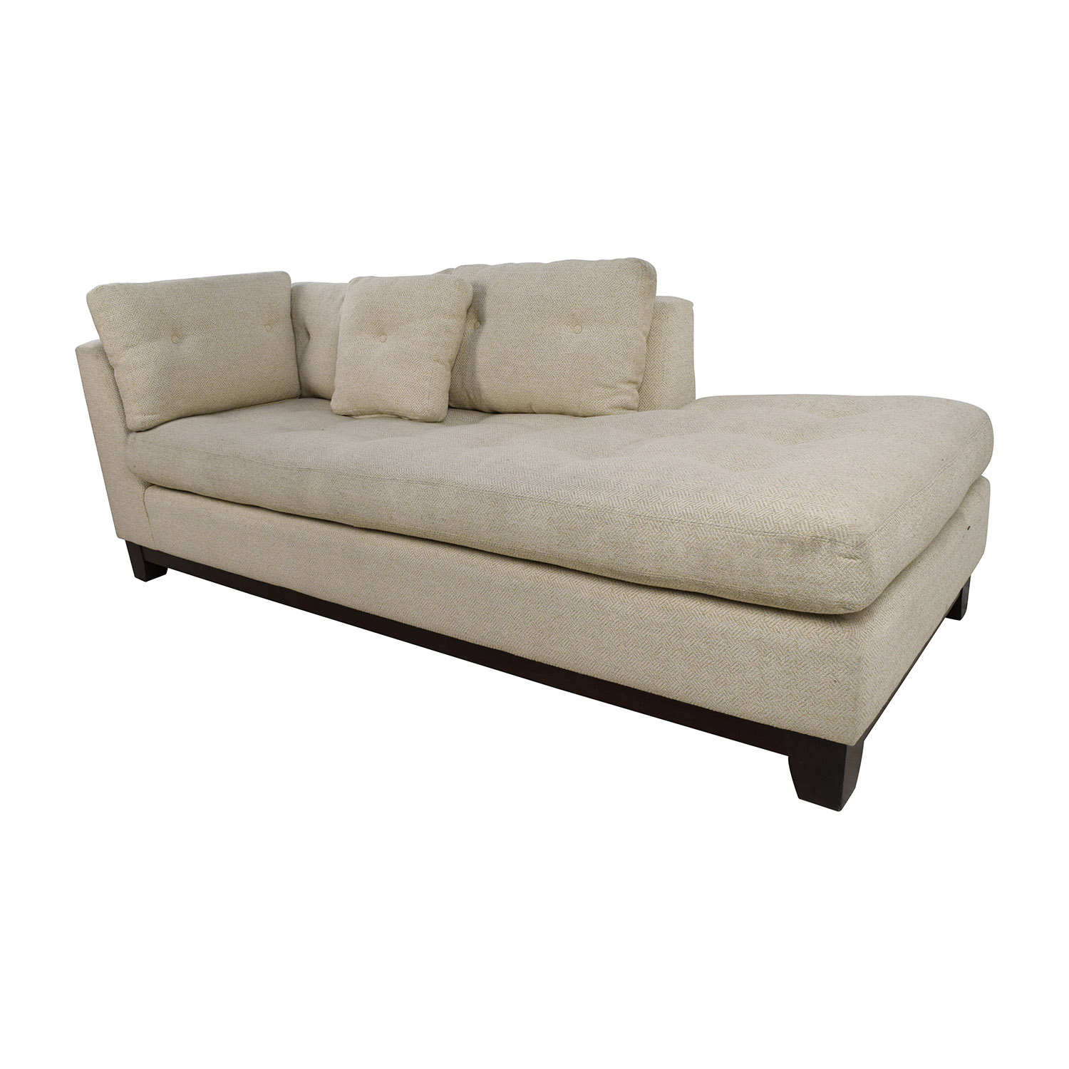 79 Off Freestyle Freestyle Tufted Natural Fabric Sofa Chaise Sofas