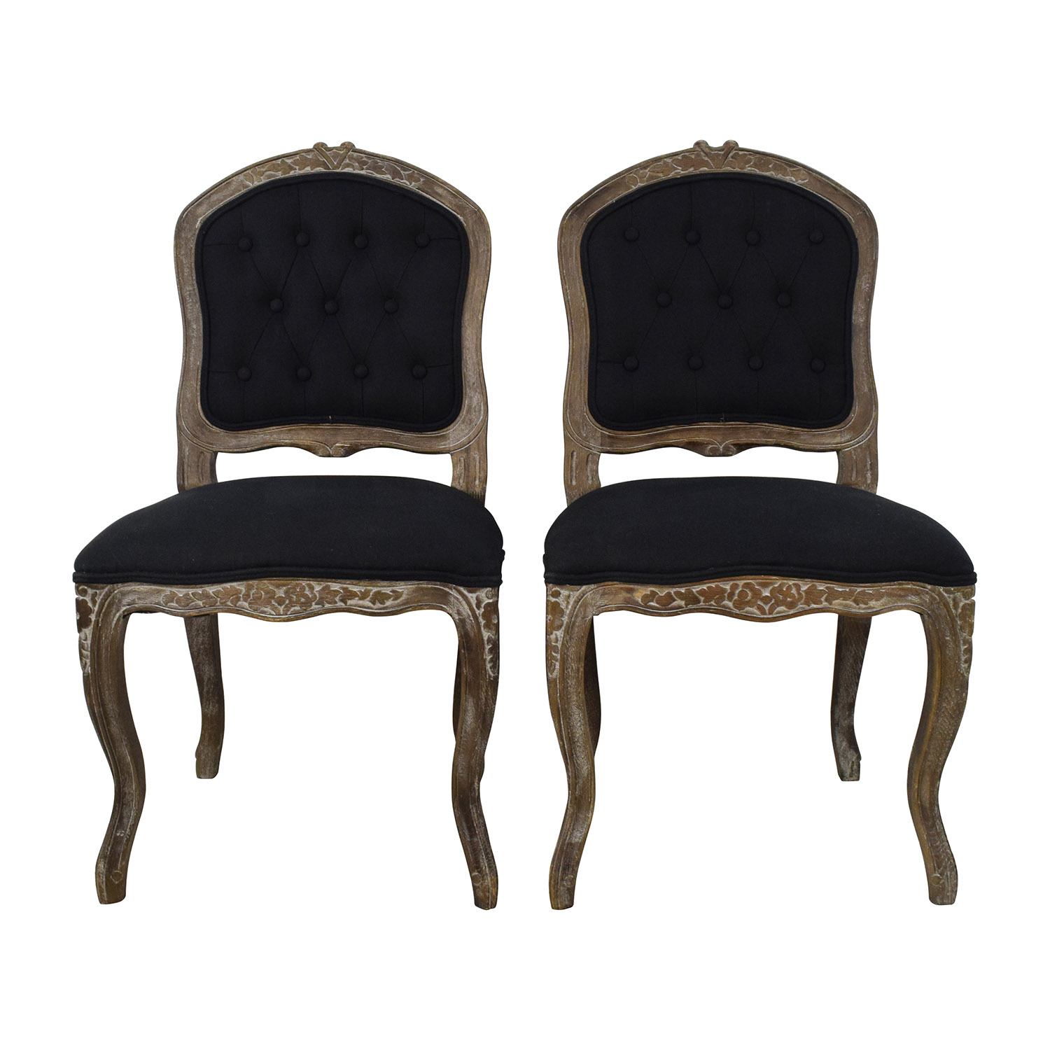 shop Safavieh Carissa Country French Brown Tufted Chairs Safavieh