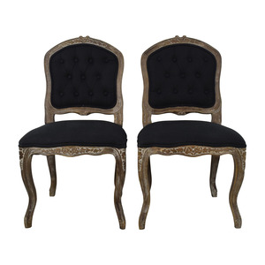 Safavieh Safavieh Carissa Country French Brown Tufted Chairs nj