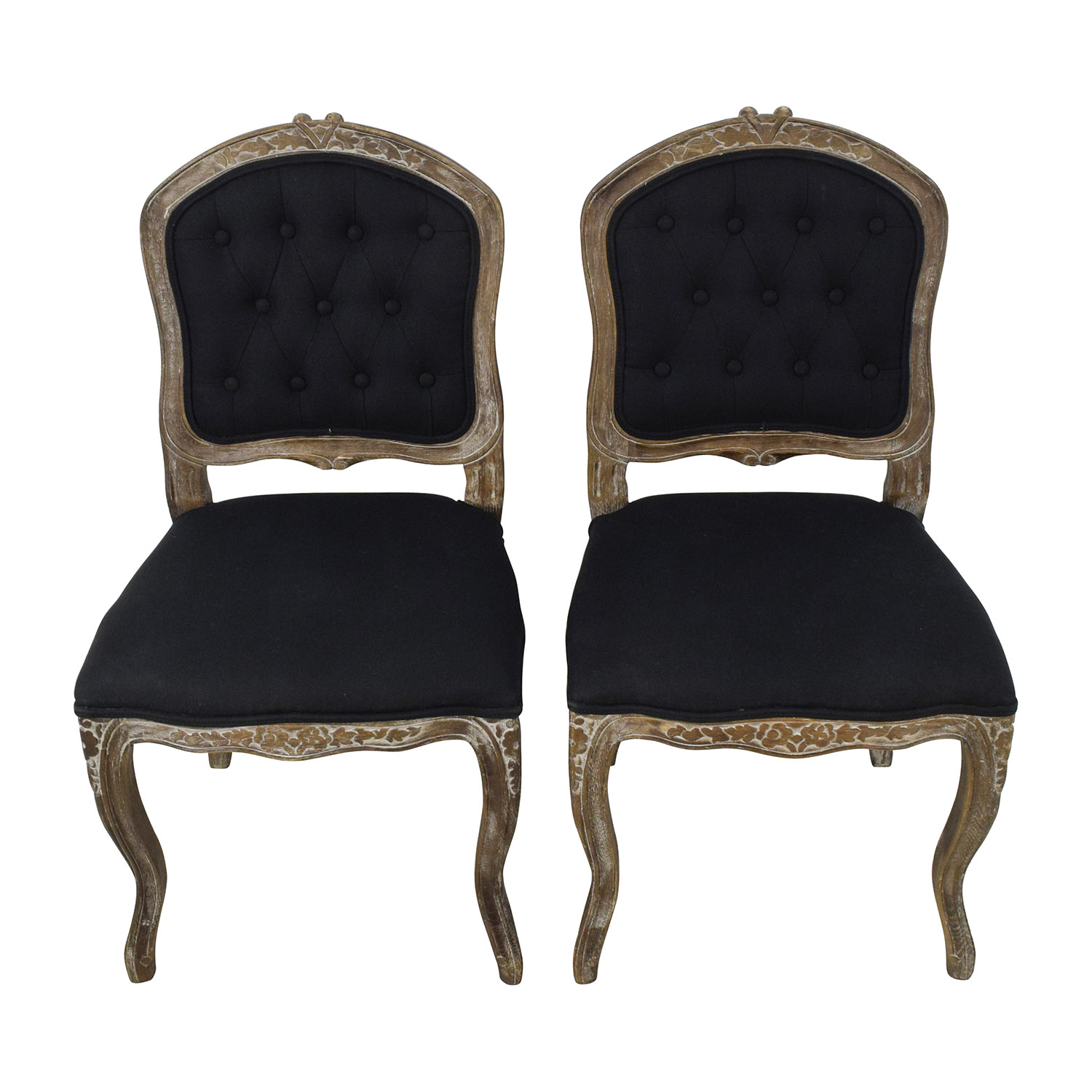 Safavieh Safavieh Carissa Country French Brown Tufted Chairs used