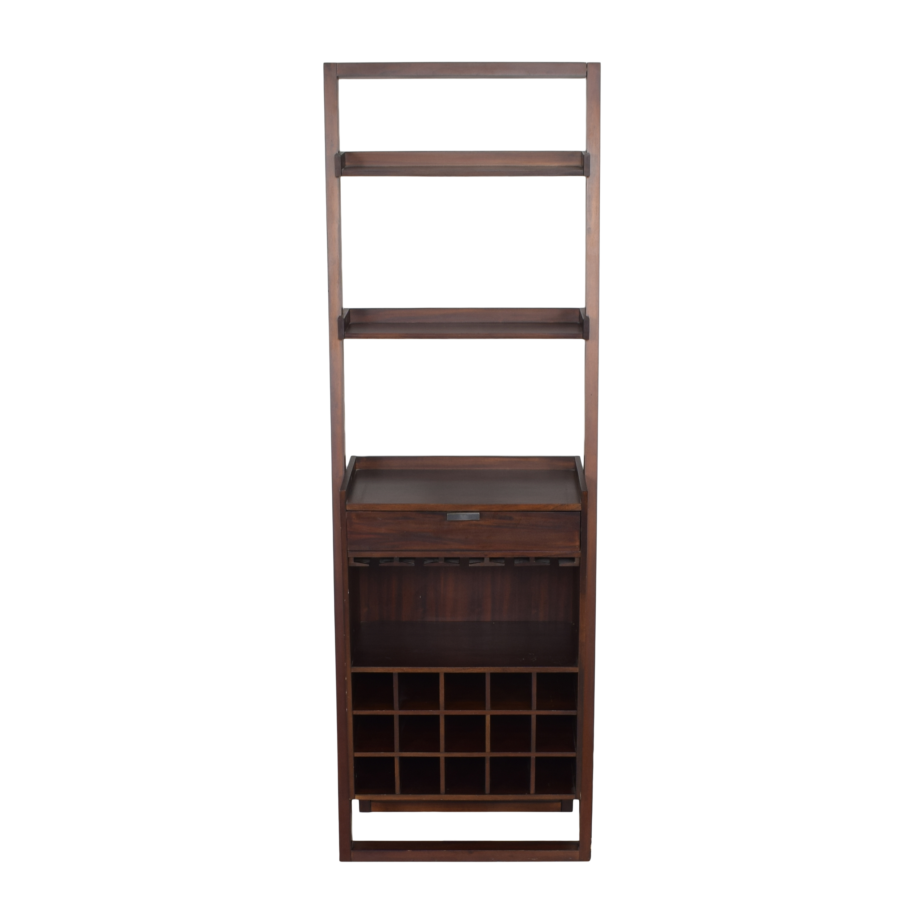Crate & Barrel Crate and Barrel Sloane Leaning Wine Bar Bookcases & Shelving