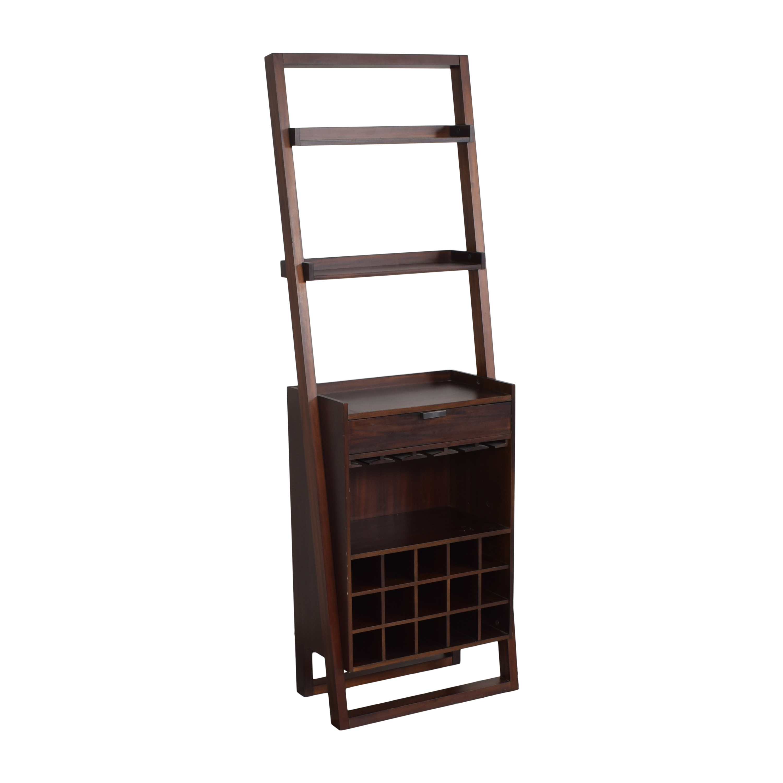 shop Crate and Barrel Sloane Leaning Wine Bar Crate & Barrel
