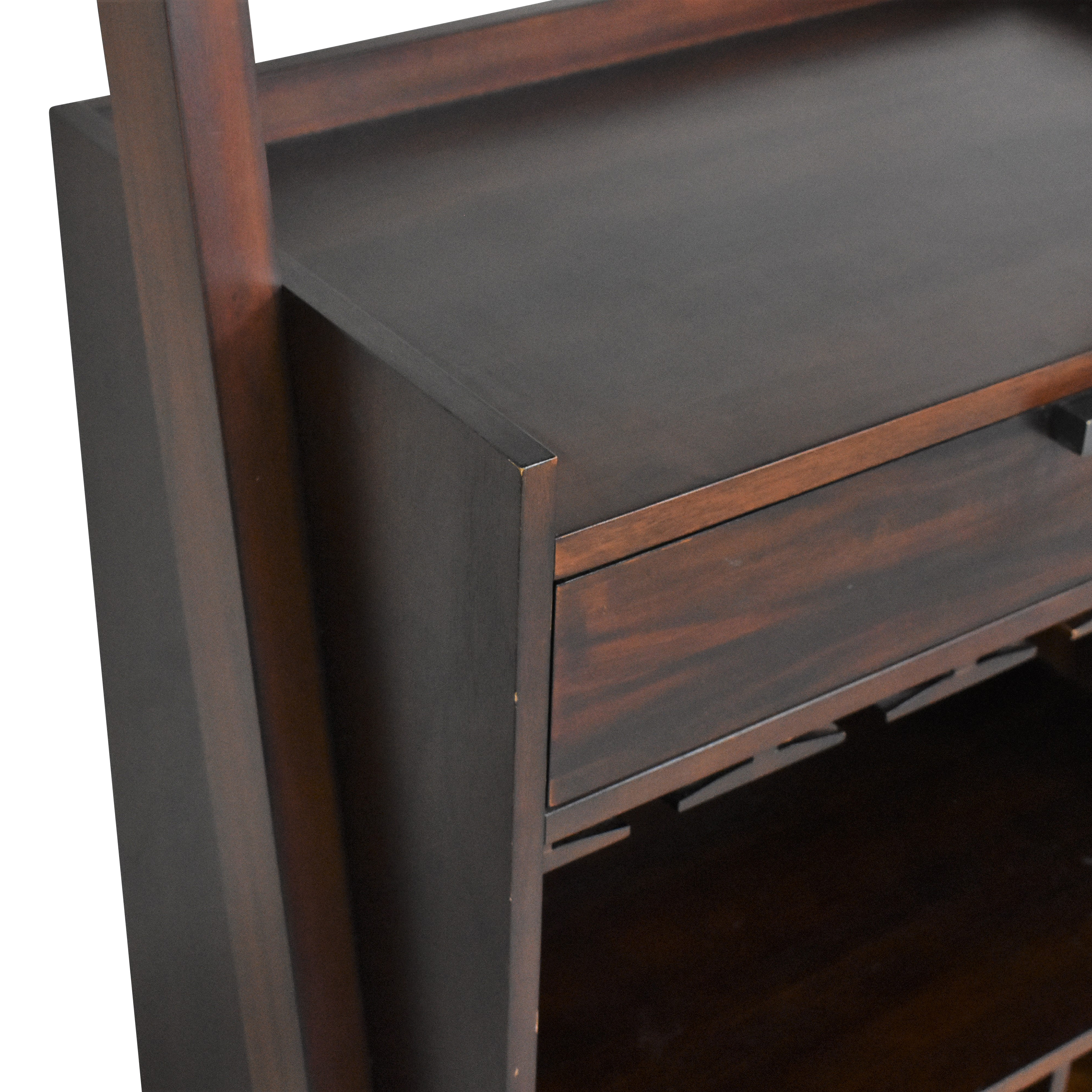 Crate and Barrel Sloane Leaning Wine Bar / Bookcases & Shelving