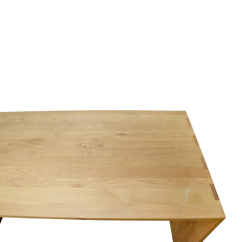 OFF Crate and Barrel Crate & Barrel Raw Oak Wood Desk Tables