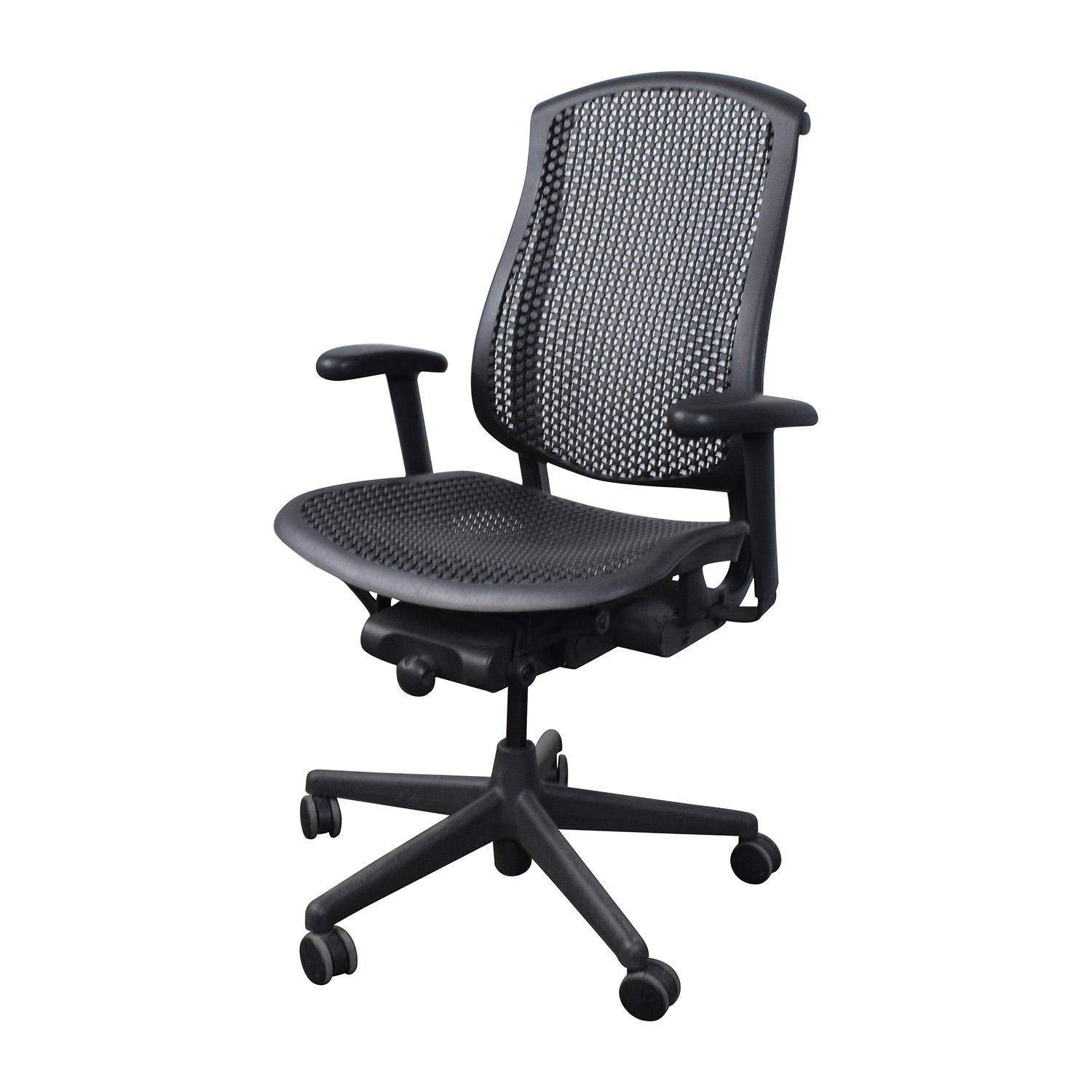 Herman Miller Chairs Used Herman Miller Office Desk Chair Grey Aeron Size B Wlumbar Used Herman