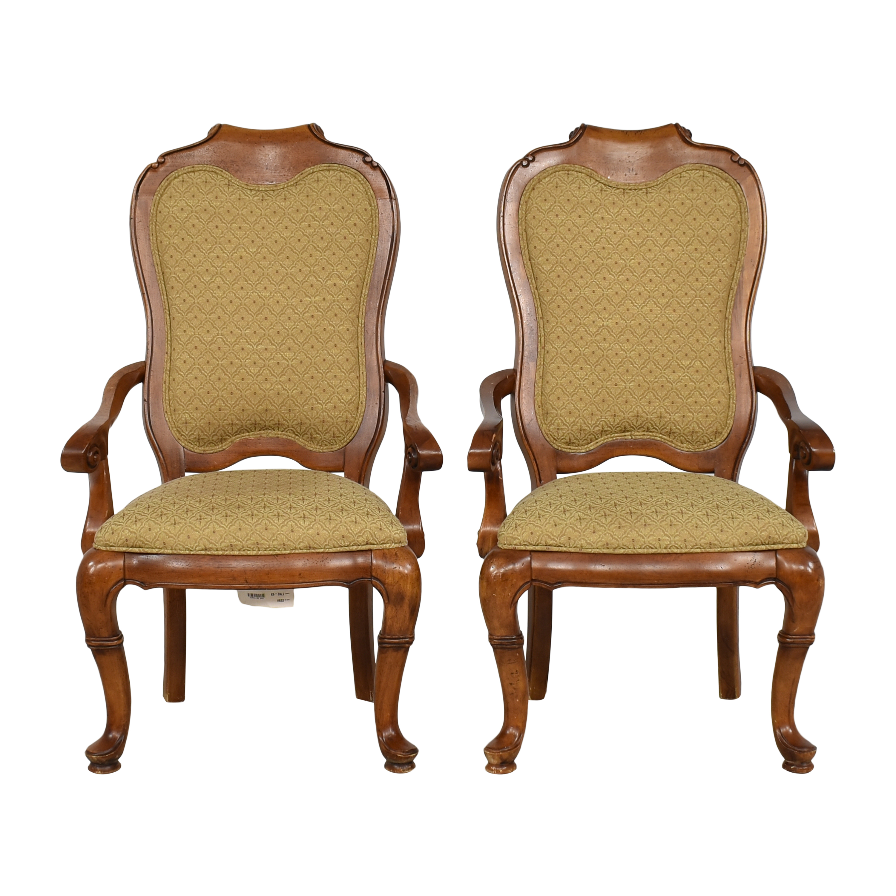 Thomasville Thomasville Upholstered Dining Arm Chairs ct