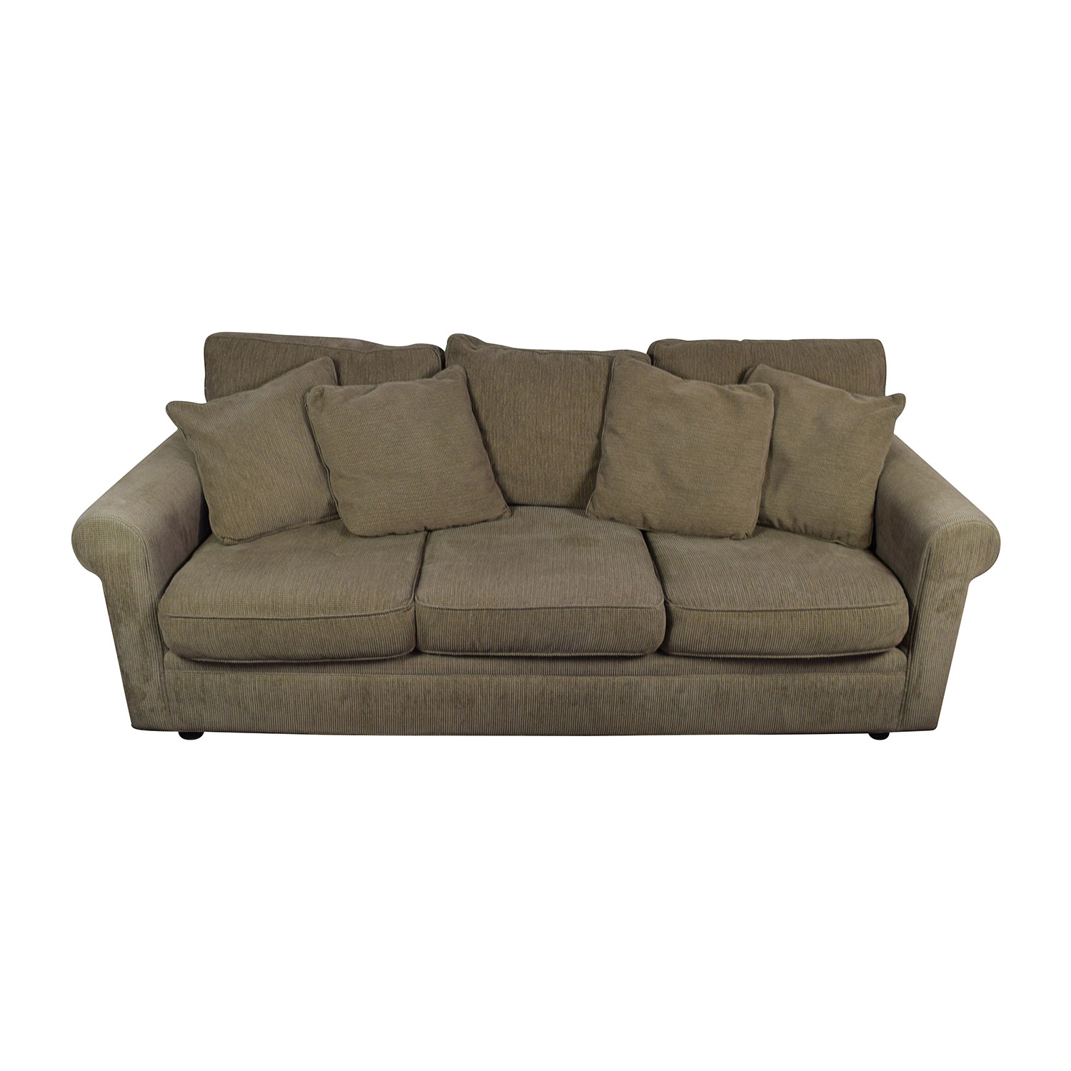 buy Crate and Barrel Tan Textured Sofa Crate and Barrel Sofas
