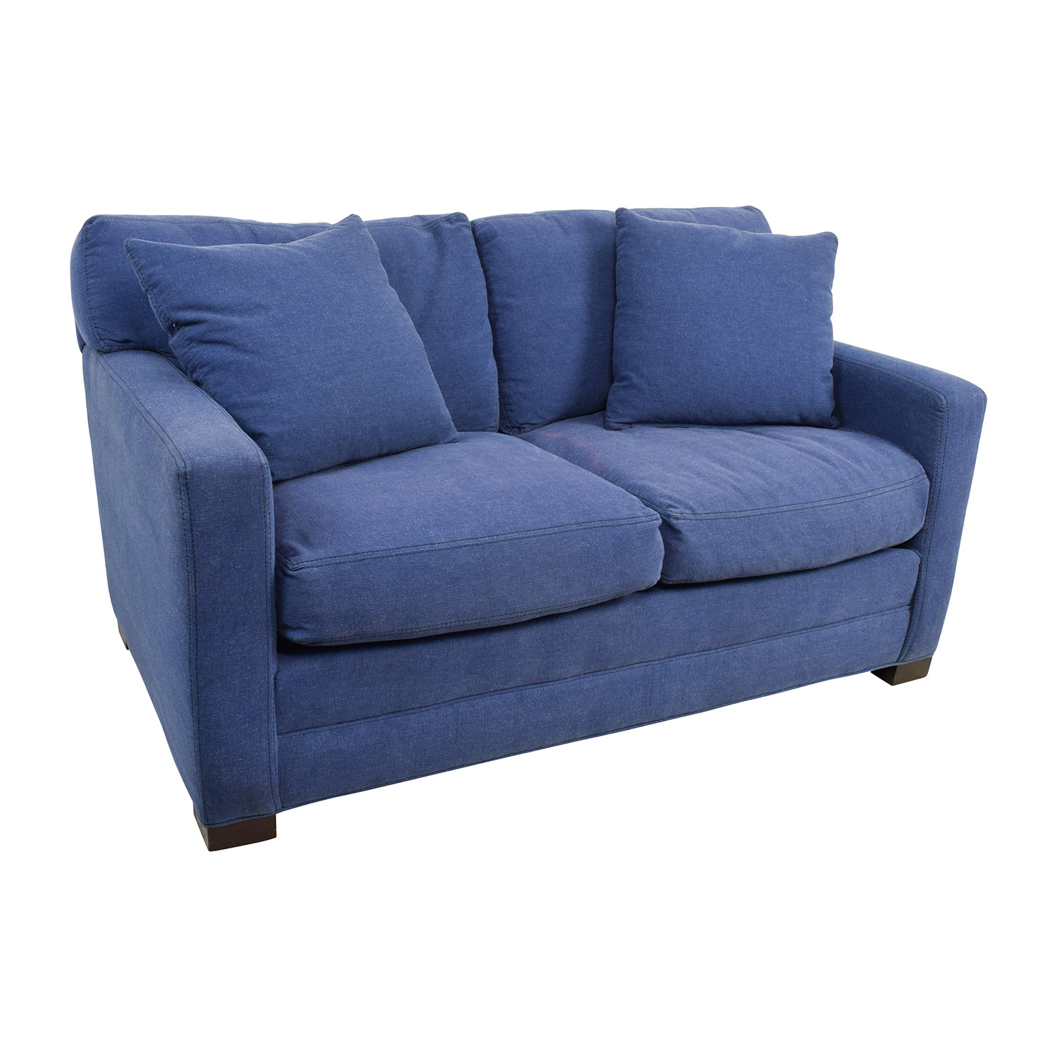 ... Shop Lee Industries Lee Industries Denim Blue Loveseat Online ...