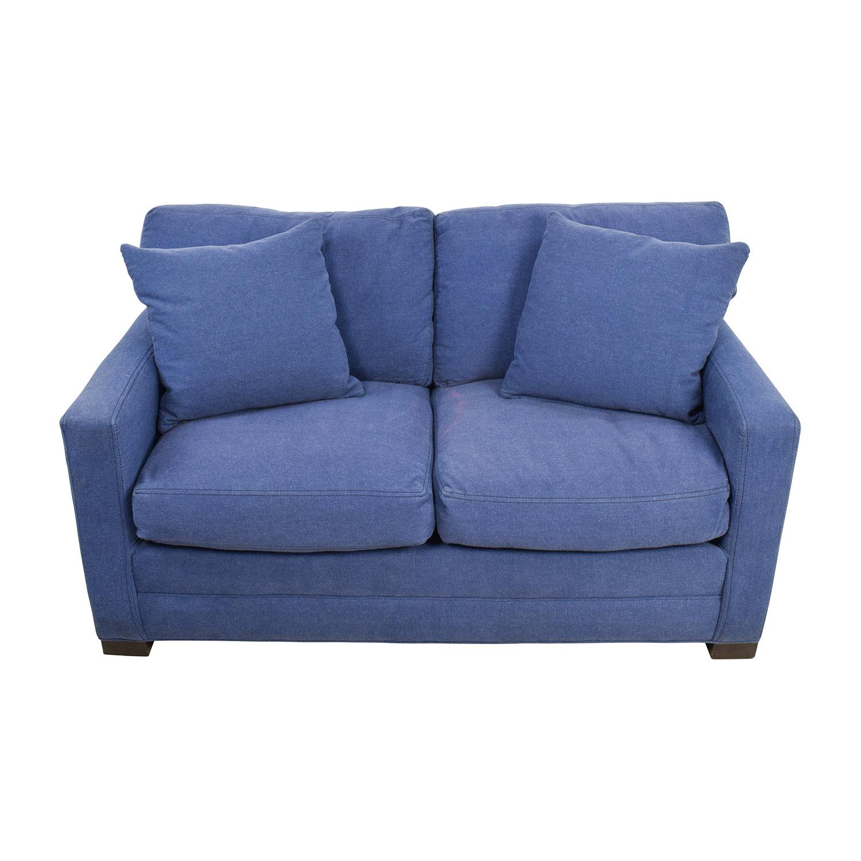 Fine 79 Off Lee Industries Lee Industries Denim Blue Loveseat Sofas Forskolin Free Trial Chair Design Images Forskolin Free Trialorg