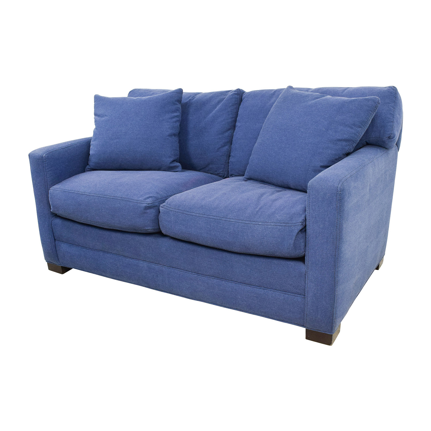 79% OFF Lee Industries Lee Industries Denim Blue Loveseat Sofas