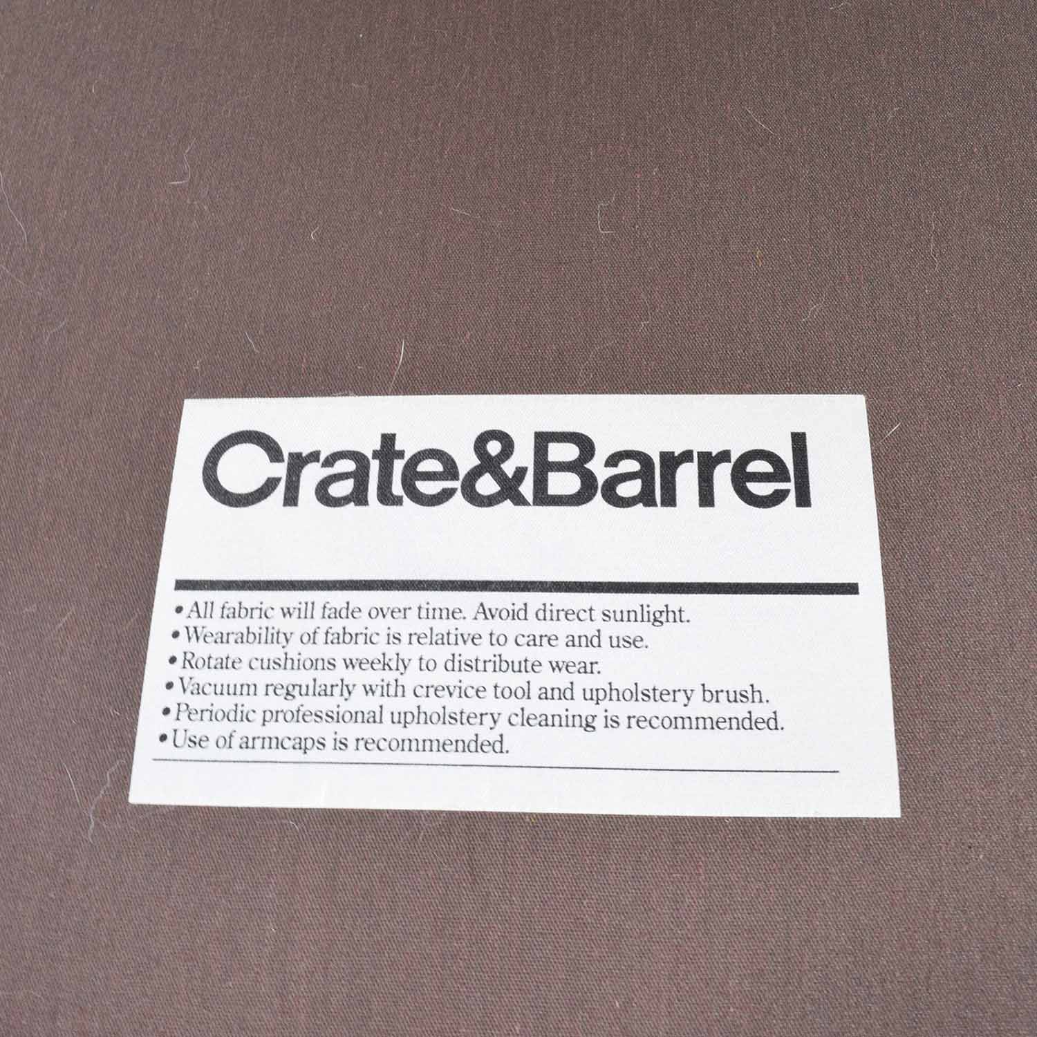 Crate and Barrel Crate & Barrel Brown Chaise Lounge used