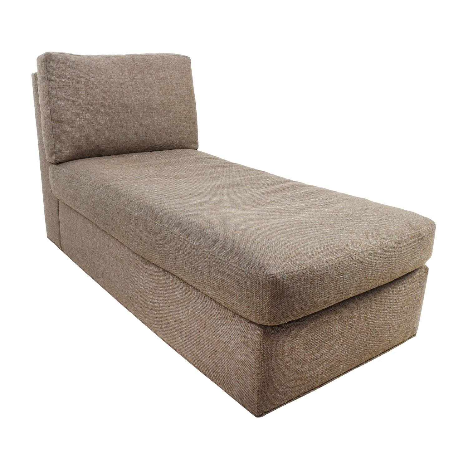 75 off crate and barrel crate barrel brown chaise for Brown chaise lounge sofa