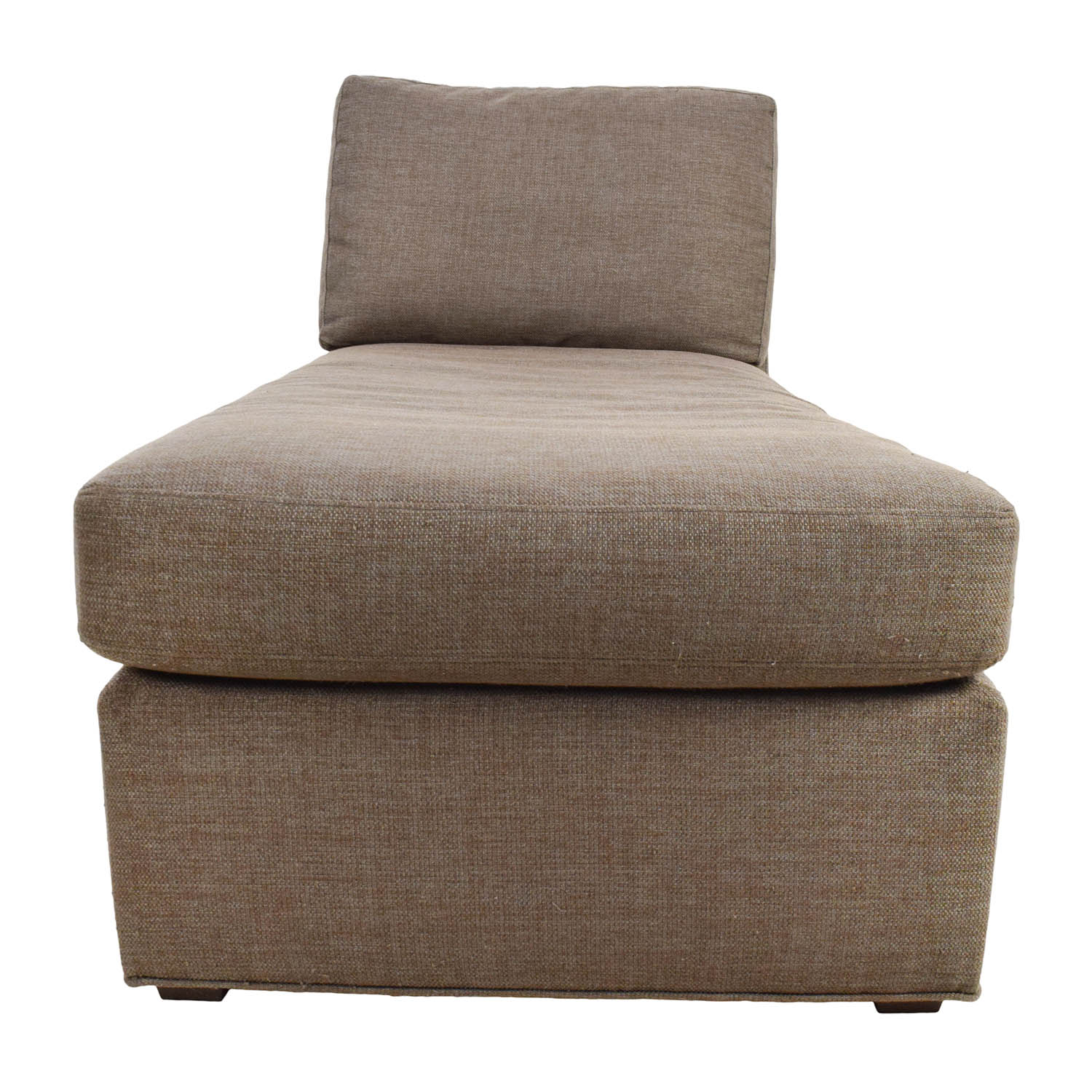 Crate and Barrel Crate & Barrel Brown Chaise Lounge discount