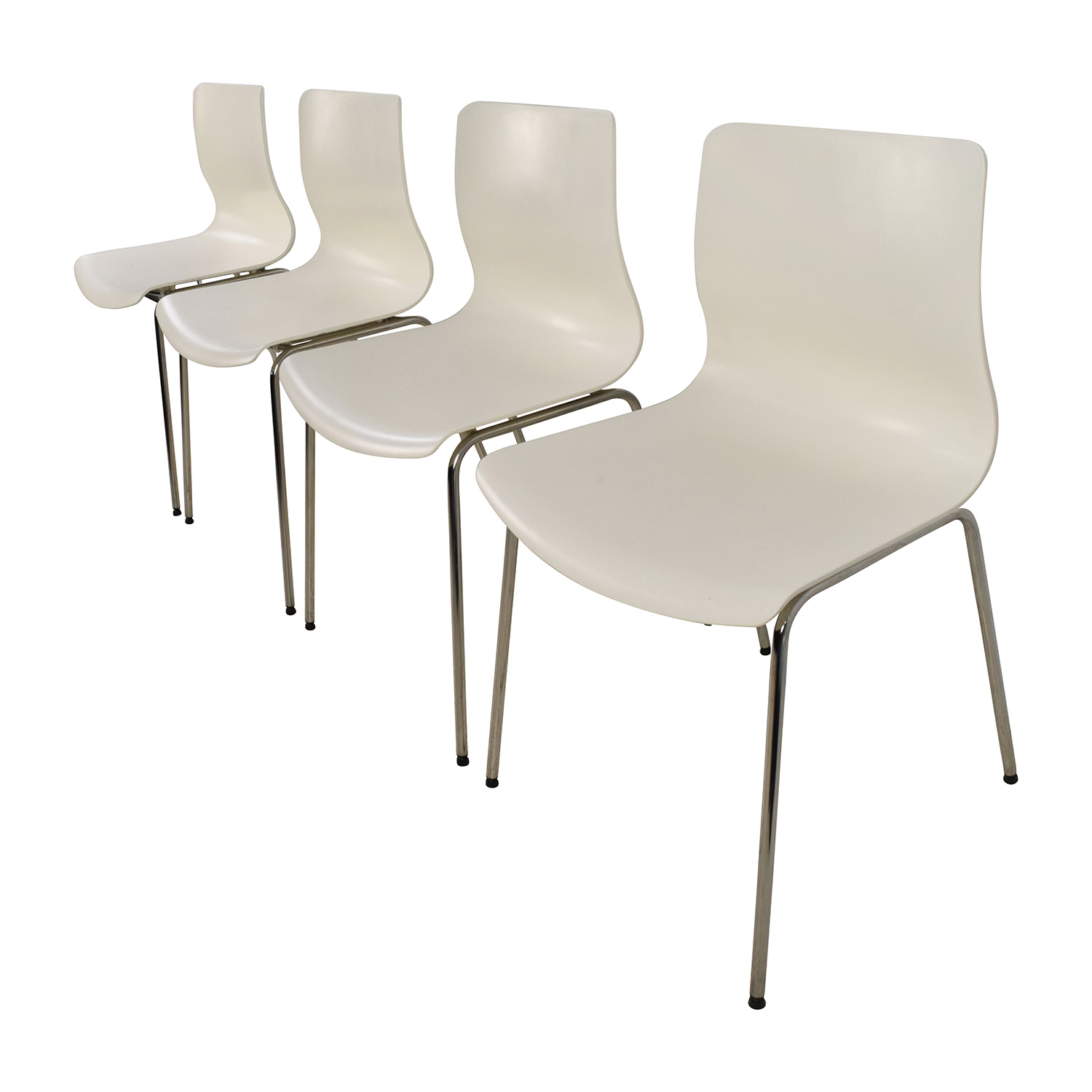 63 off ikea ikea erlund white chairs chairs for Ikea white chair