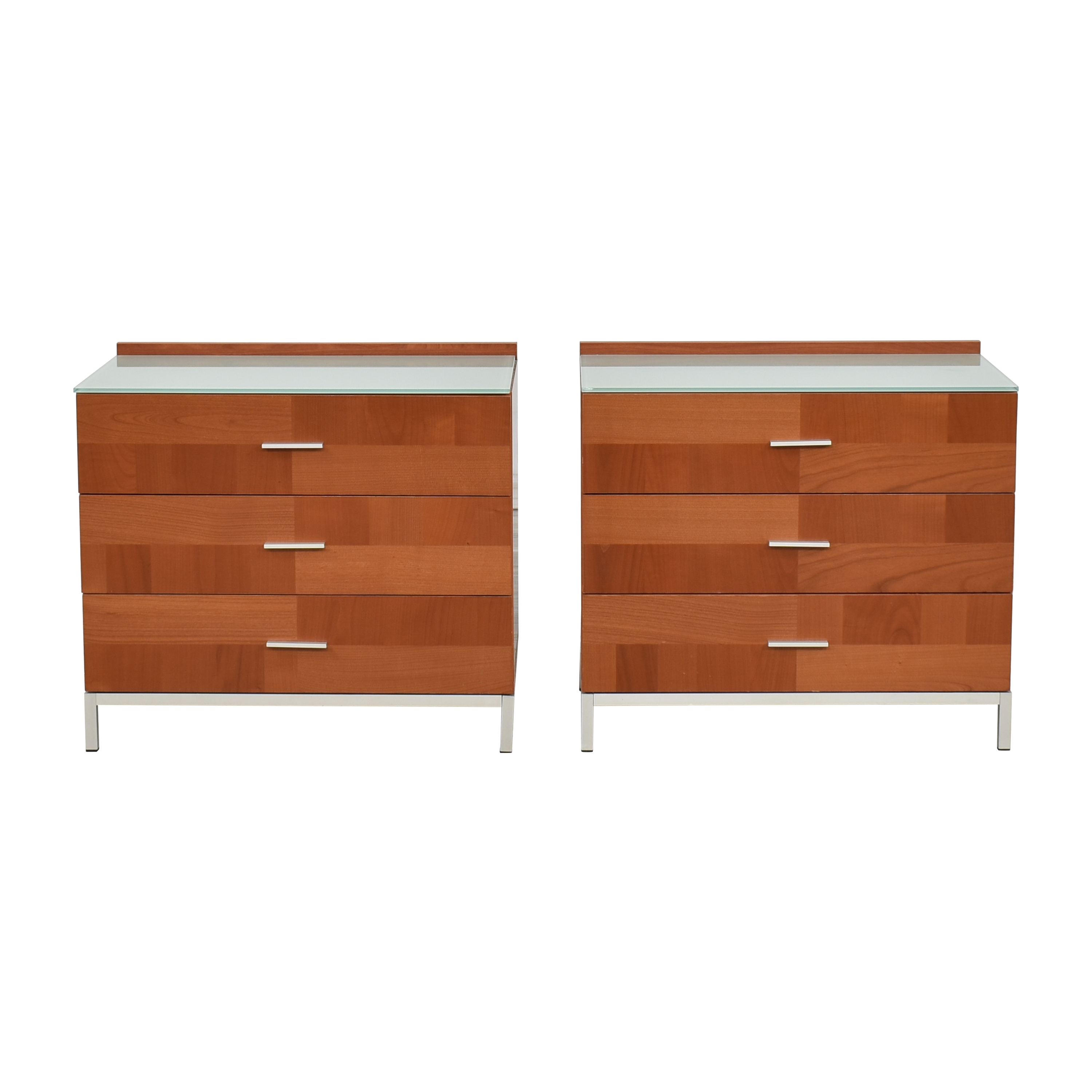 buy Contemporary Three Drawer Nightstands  Tables