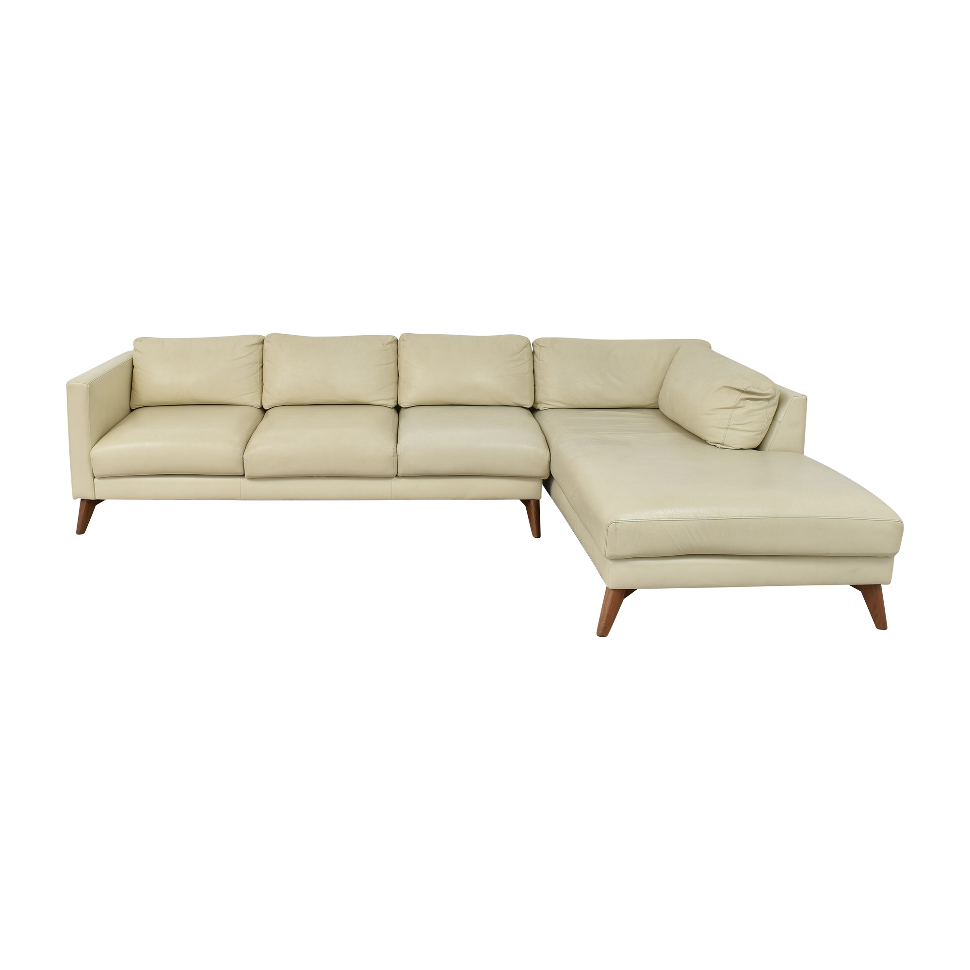 Elite Leather Company Elite Leather Company Burbank Chaise Sectional Sofa pa