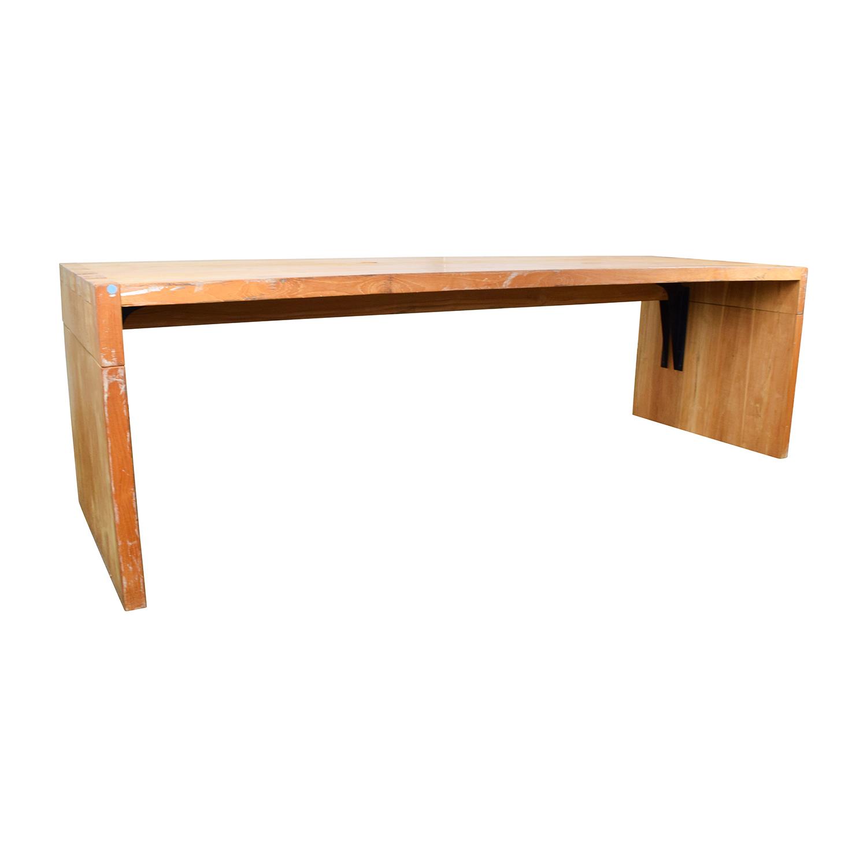 Custom Made Teak Wood Long Table