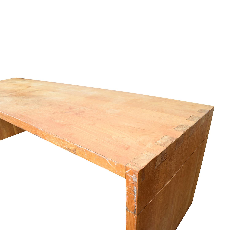 82 Off Custom Made Teak Wood Long Table Tables