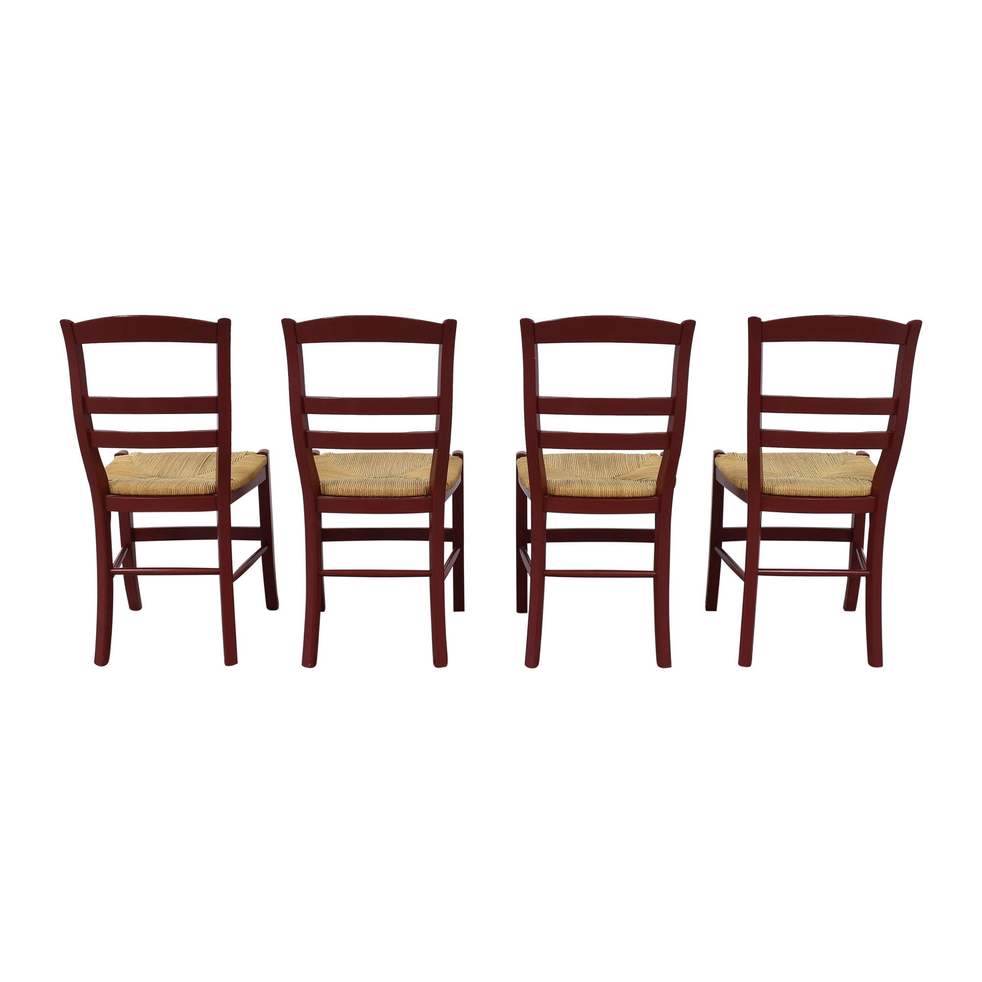 Pottery Barn Pottery Barn Isabella Dining Chairs Brown / Red