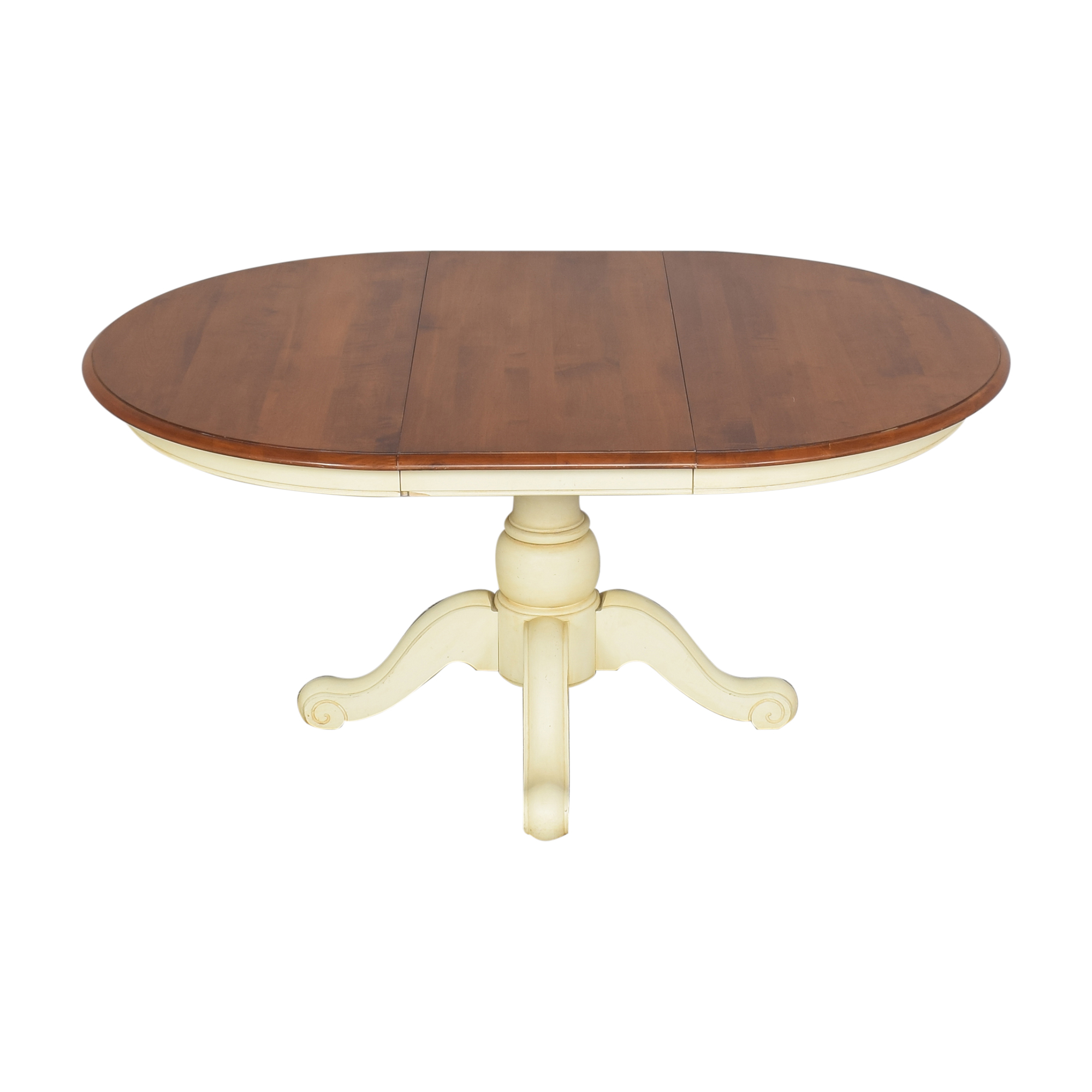 Ethan Allen Ethan Allen Extendable Farmhouse Dining Table for sale
