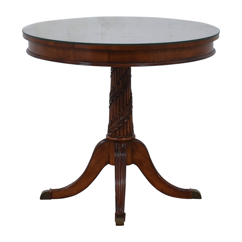 shop Costco Round Pedestal Side Table Costco Tables
